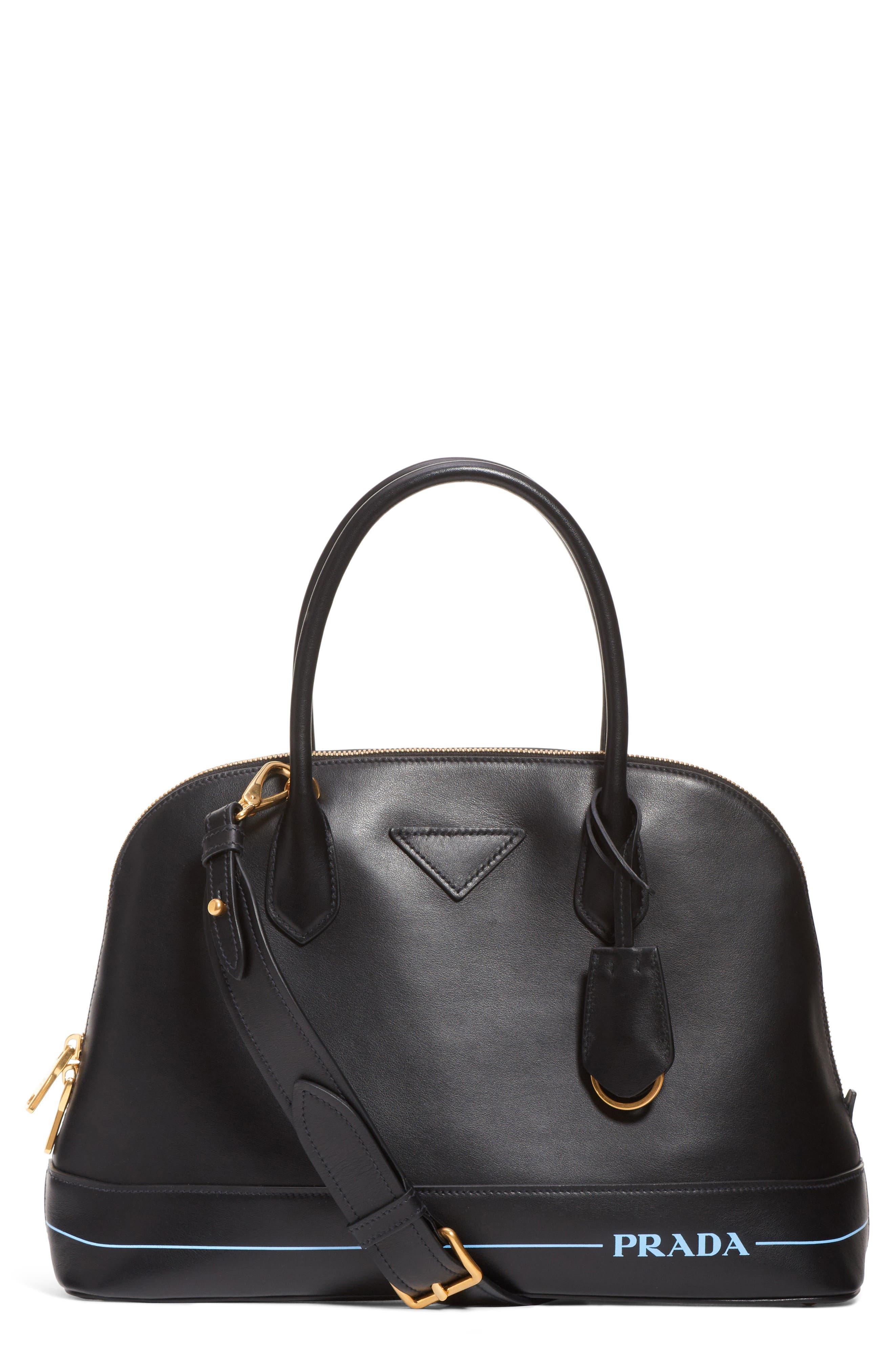 Calfskin Dome Satchel,                         Main,                         color, 001