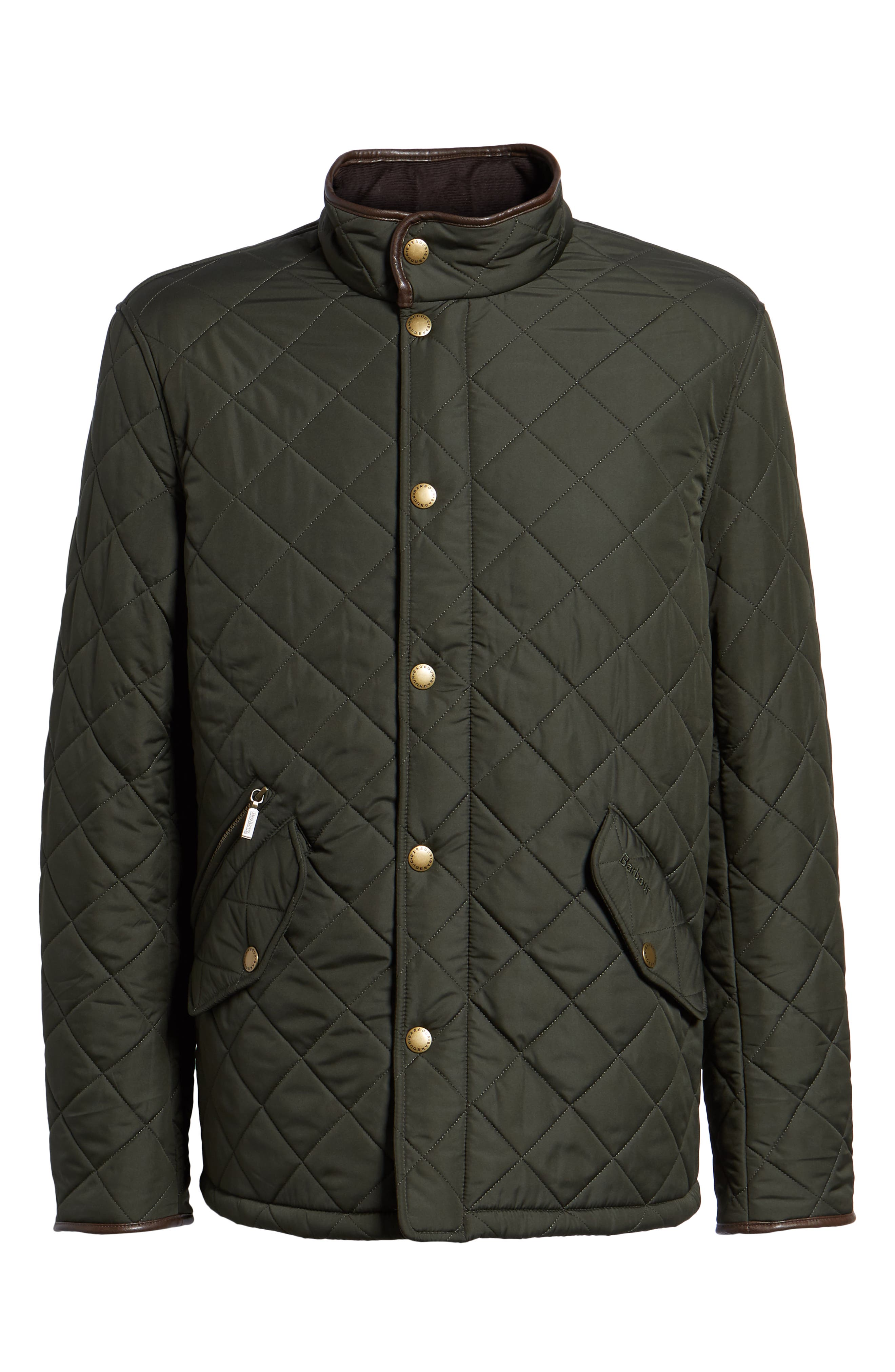 'Powell' Regular Fit Quilted Jacket,                             Alternate thumbnail 6, color,                             SAGE/ OLIVE