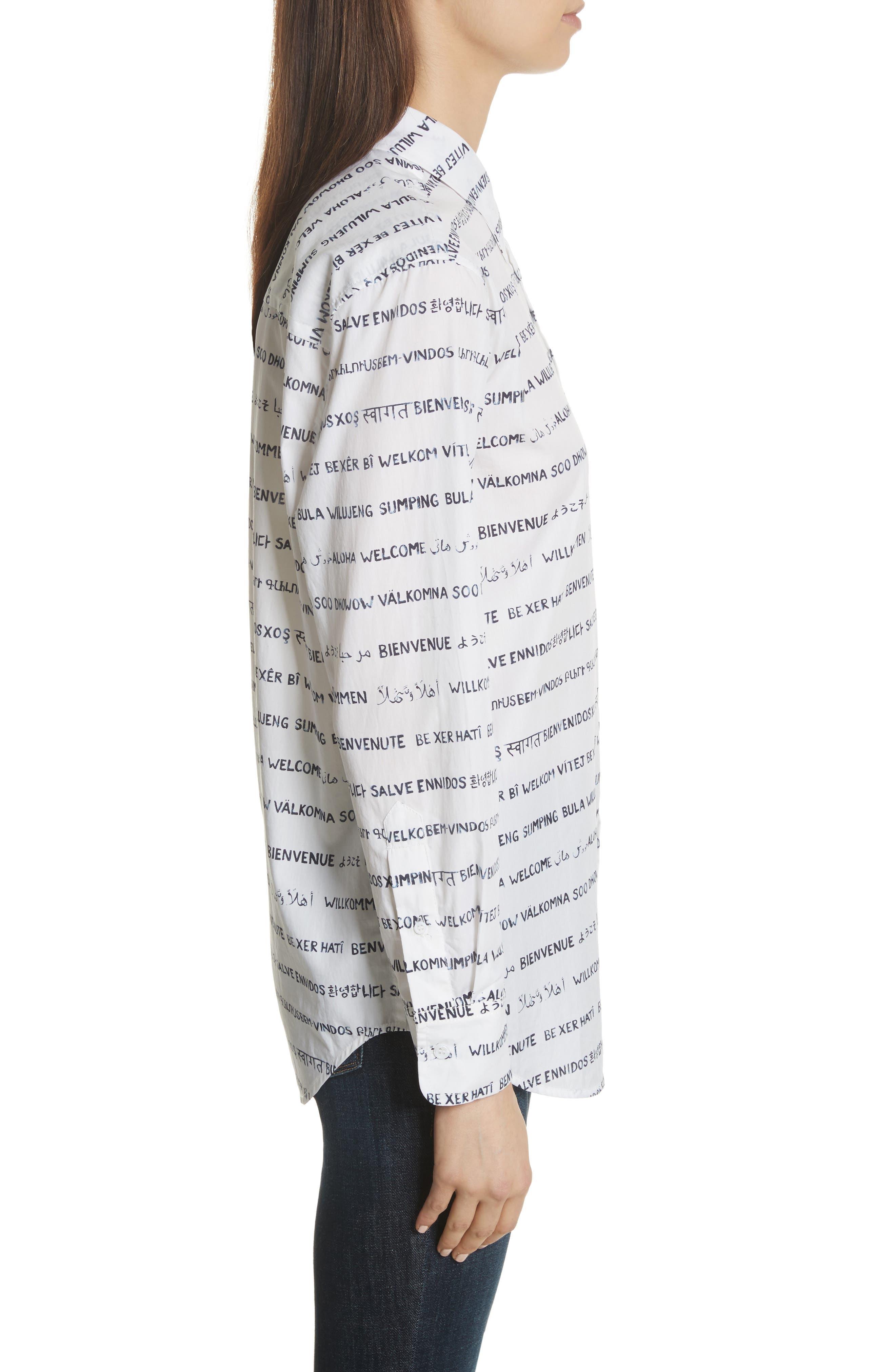 Kenton Graphic Stripe Cotton Shirt,                             Alternate thumbnail 3, color,                             125