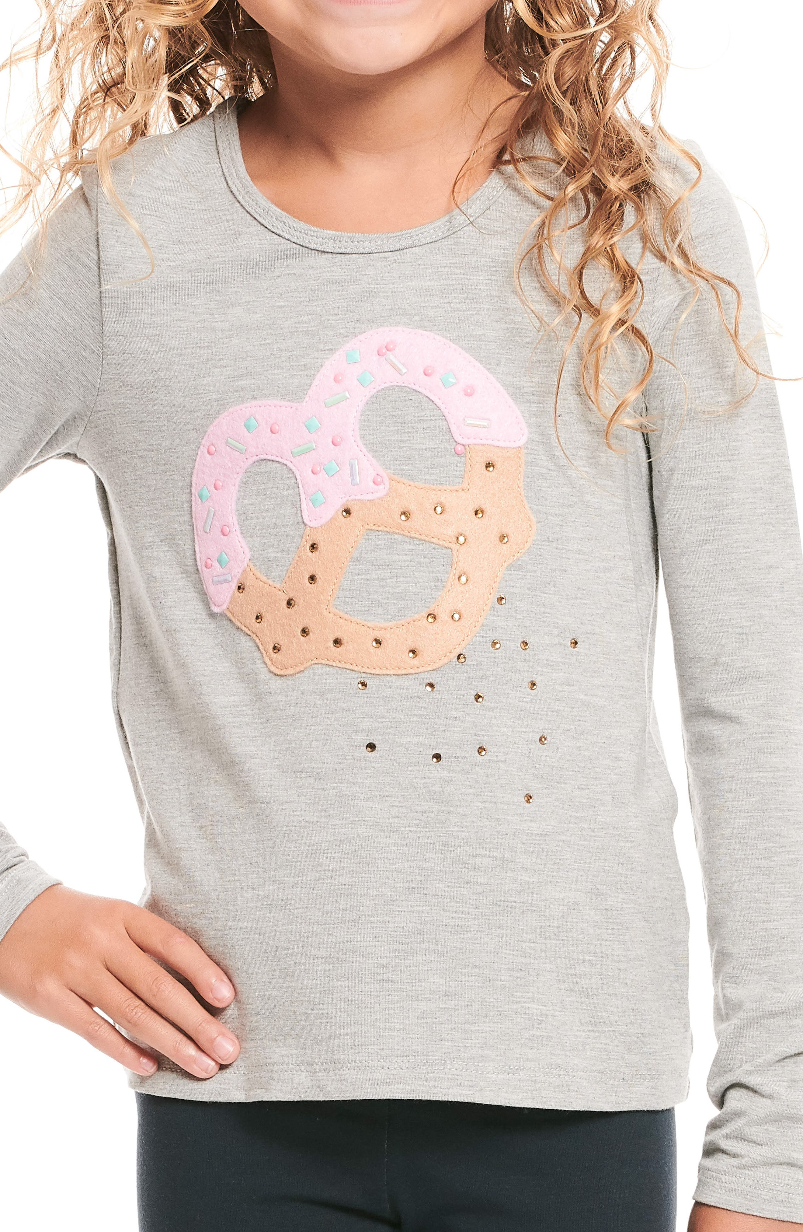 Pretzel Tee,                             Alternate thumbnail 3, color,                             HEATHER GREY
