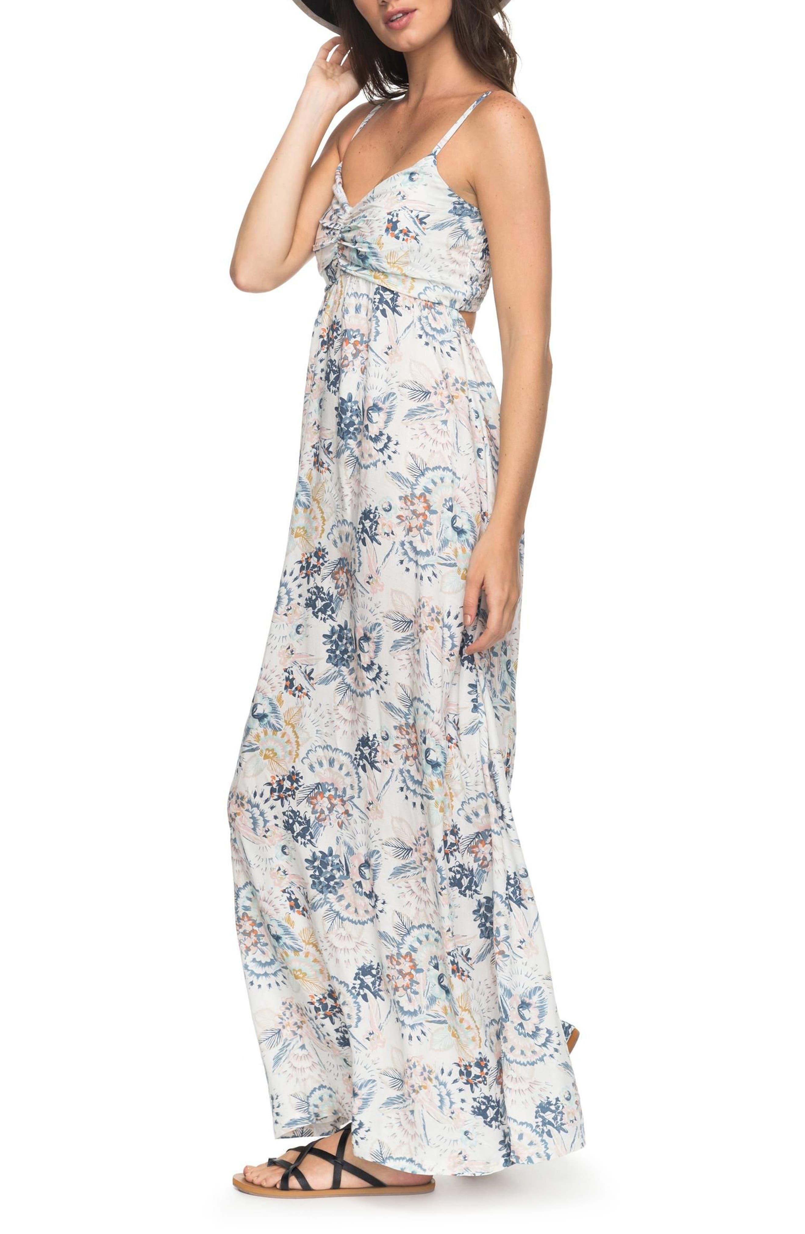 ROXY,                             Brilliant Stars Maxi Dress,                             Alternate thumbnail 3, color,                             900