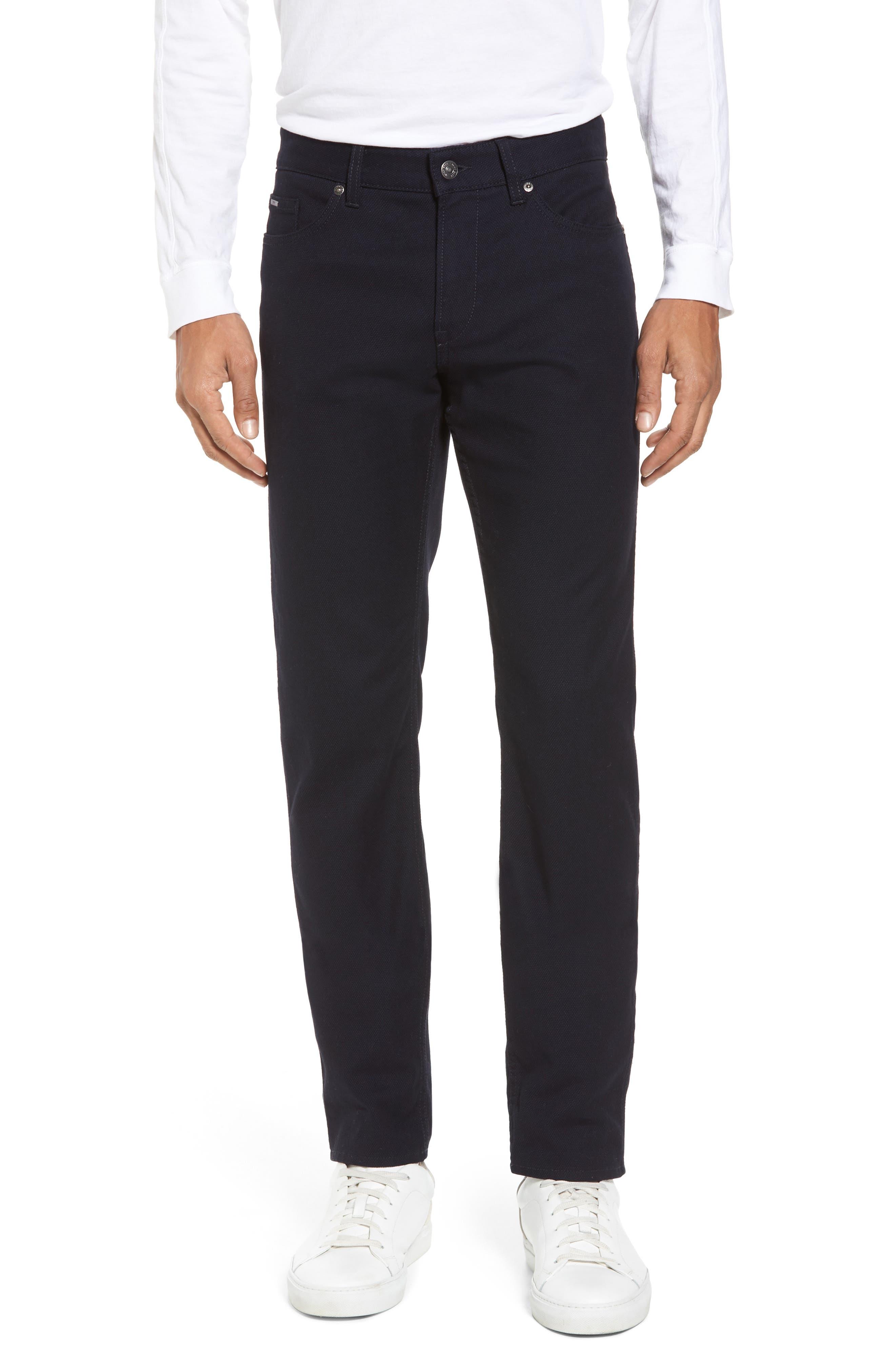 Delaware Slim Microtexture Five Pocket Pants,                         Main,                         color, 410