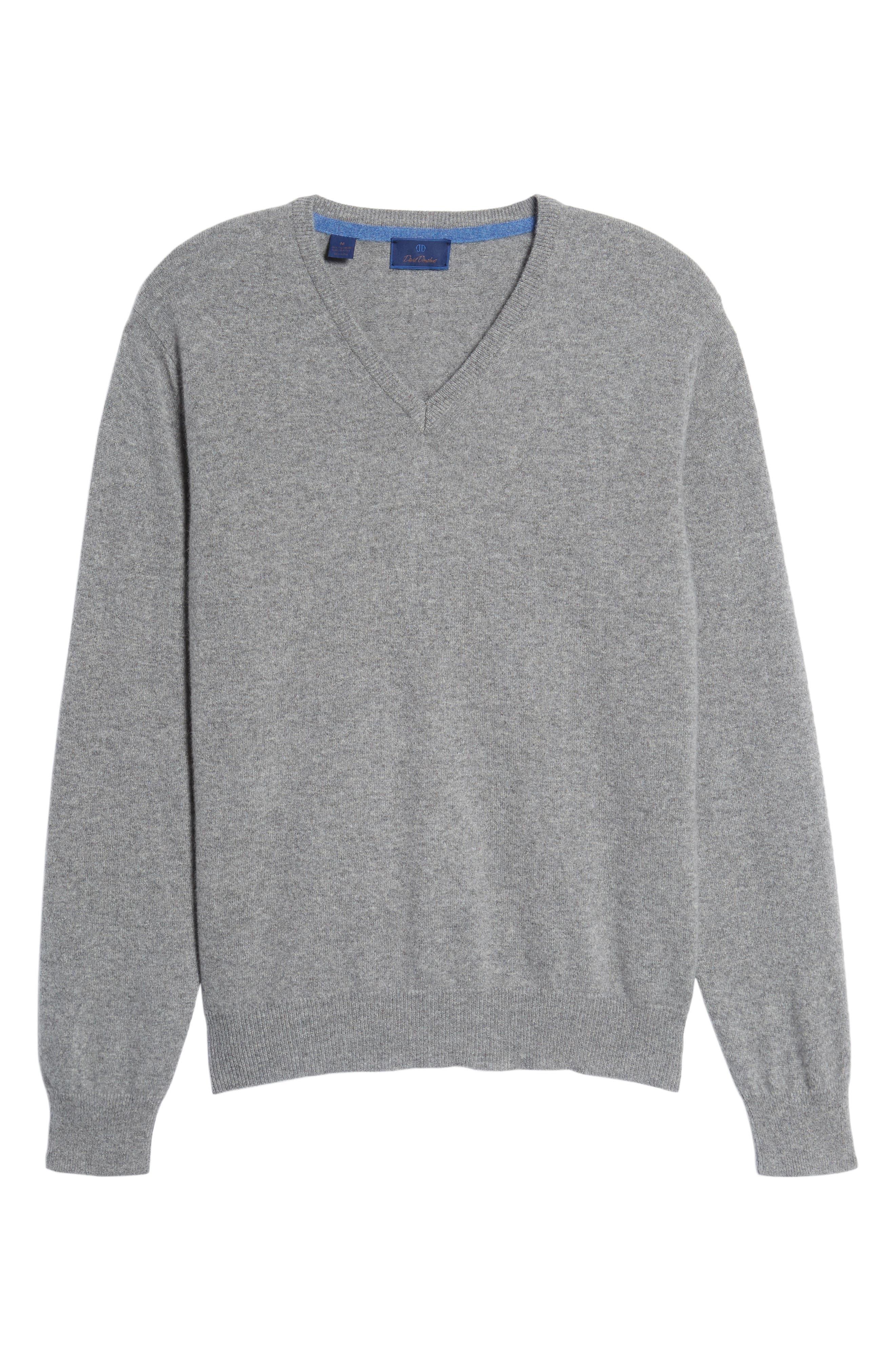Cashmere V-Neck Sweater,                             Alternate thumbnail 32, color,