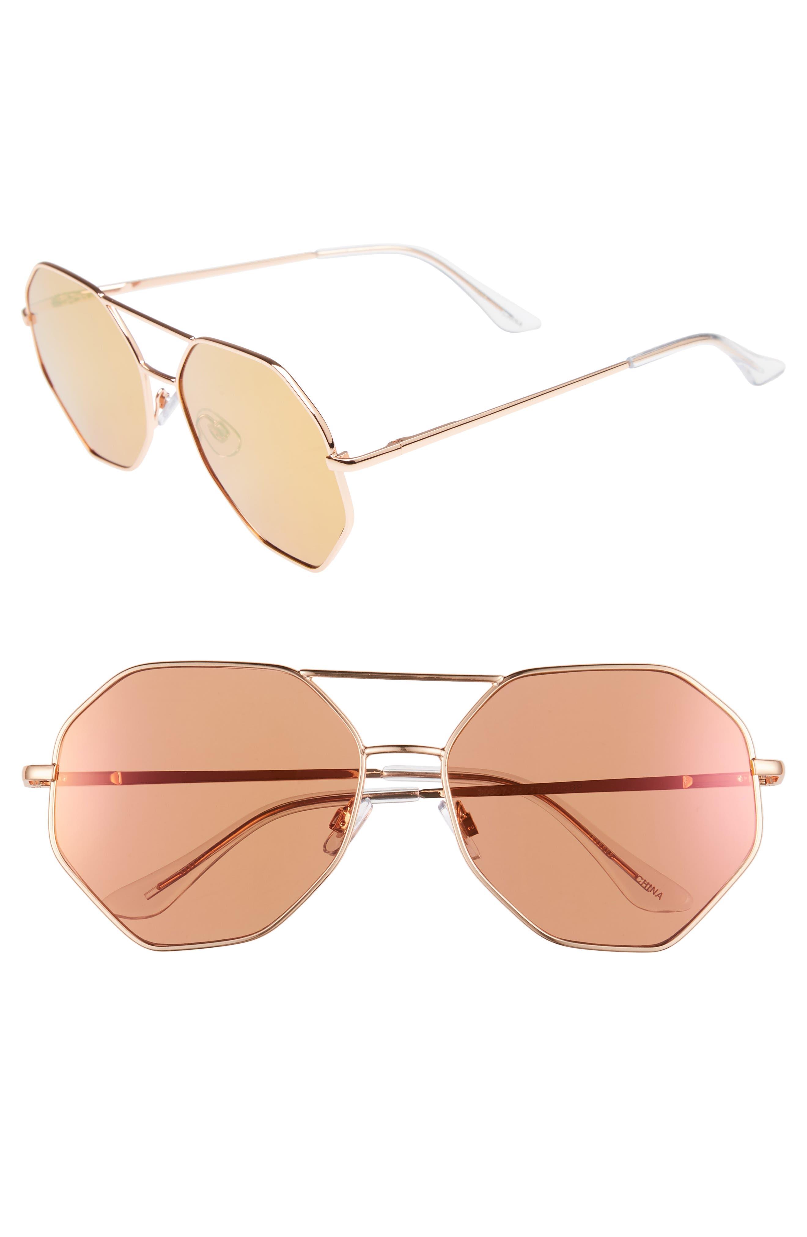 Hexcon Aviator Sunglasses,                             Main thumbnail 1, color,                             710