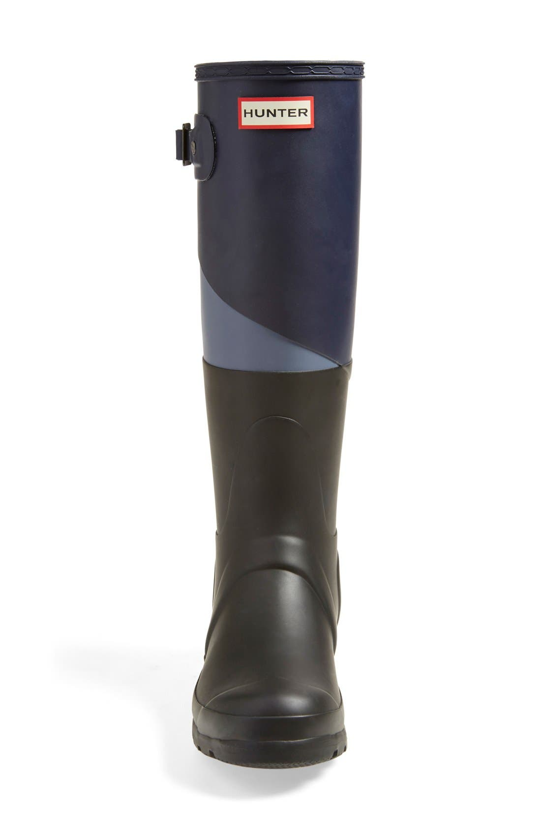 'Original - Asymmetric Colorblock' Waterproof Rain Boot,                             Alternate thumbnail 5, color,