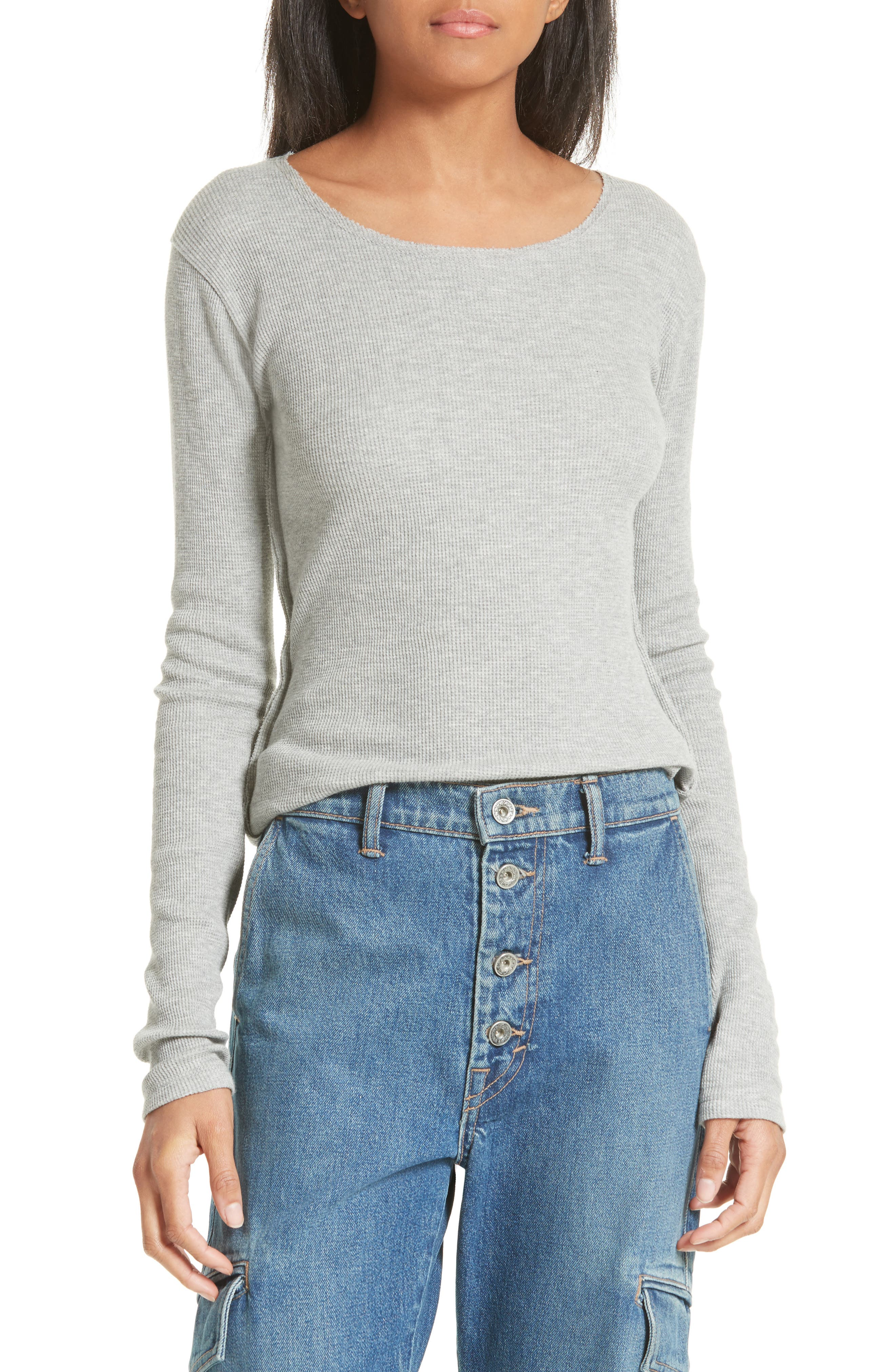 Thermal Pima Cotton Tee,                         Main,                         color, 061