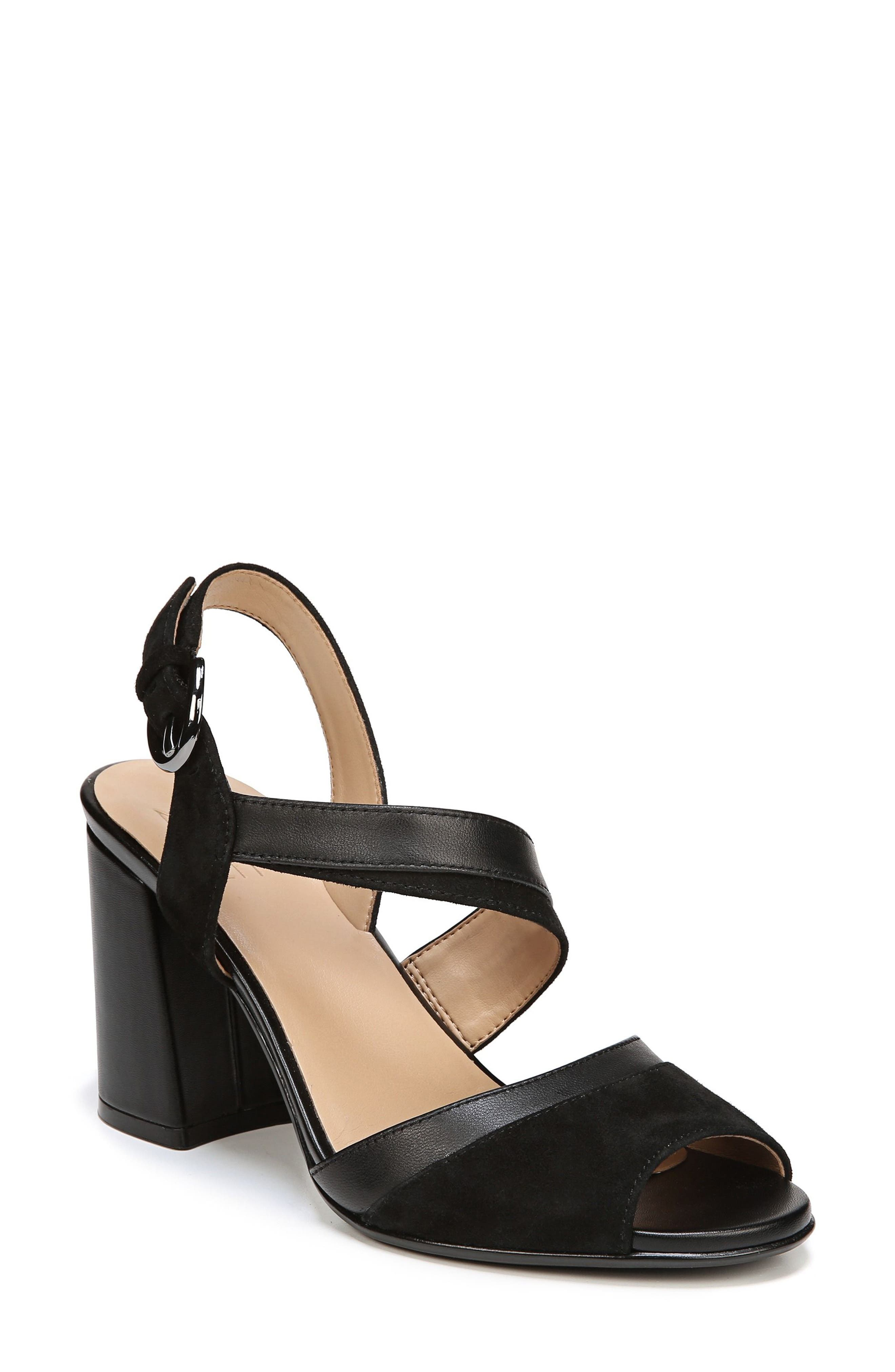 Terah Sandal,                         Main,                         color, BLACK SUEDE