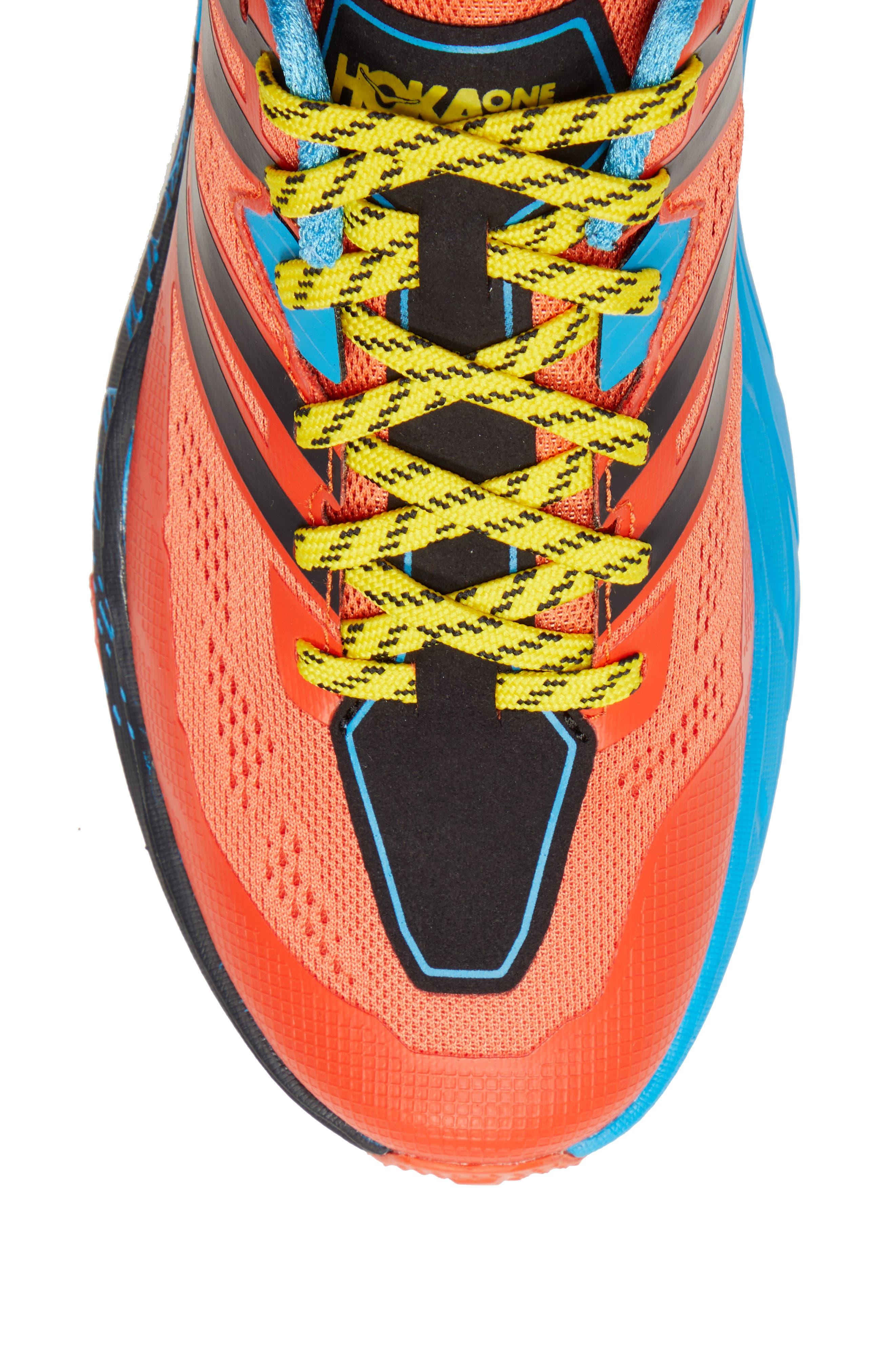 Speedgoat 3 Trail Running Shoe,                             Alternate thumbnail 5, color,                             NASTURTIUM/ SPICY ORANGE