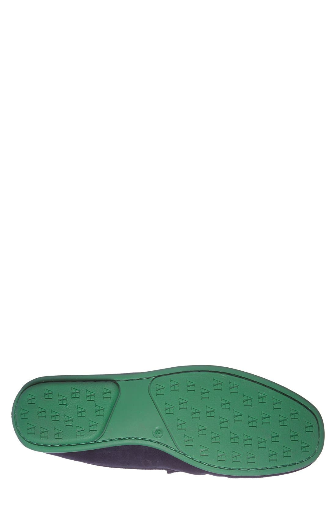 'Chathams' Penny Loafer,                             Alternate thumbnail 8, color,                             NAVY SUEDE/ GREEN