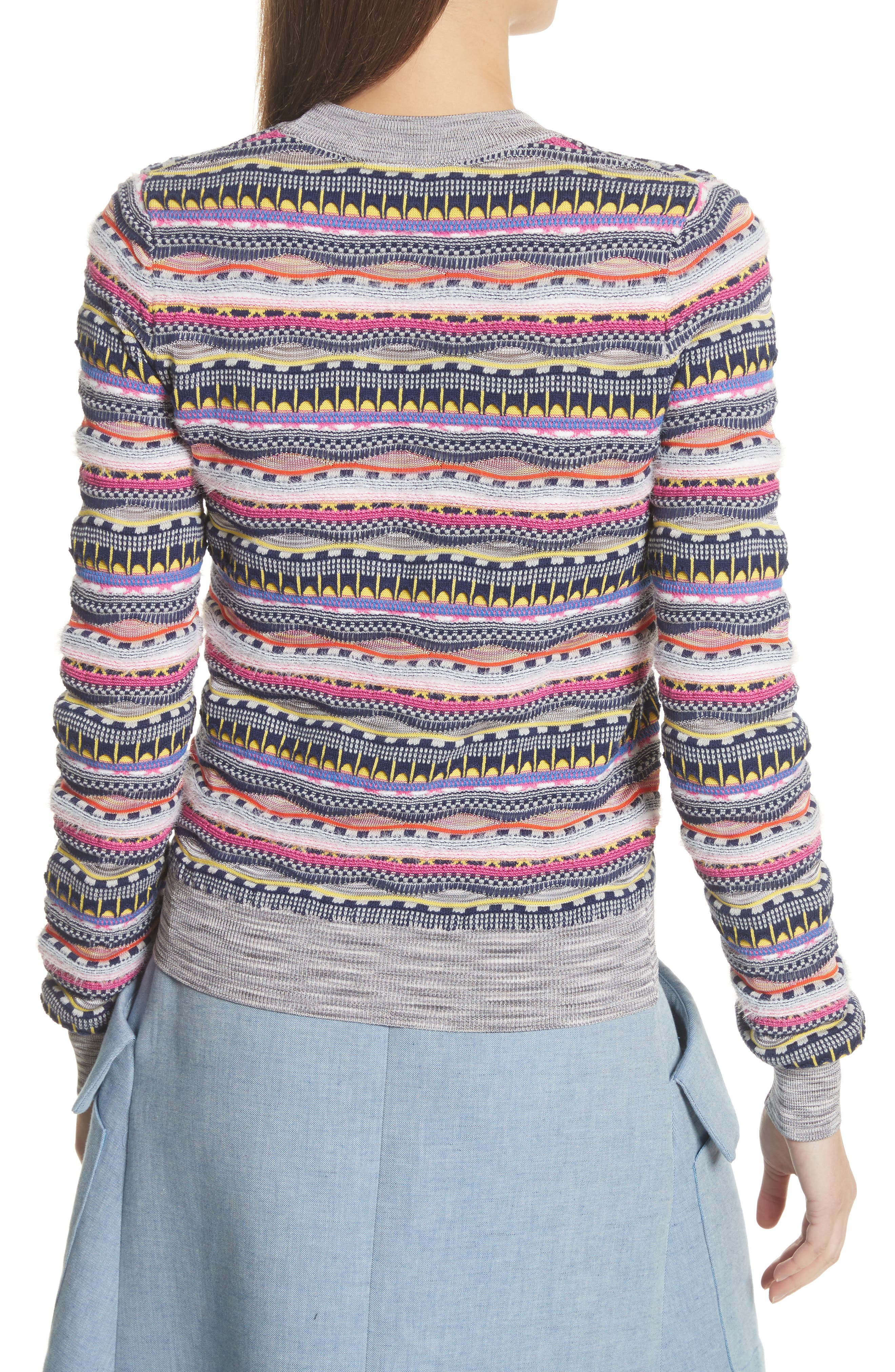Knit Cotton Blend Sweater,                             Alternate thumbnail 2, color,