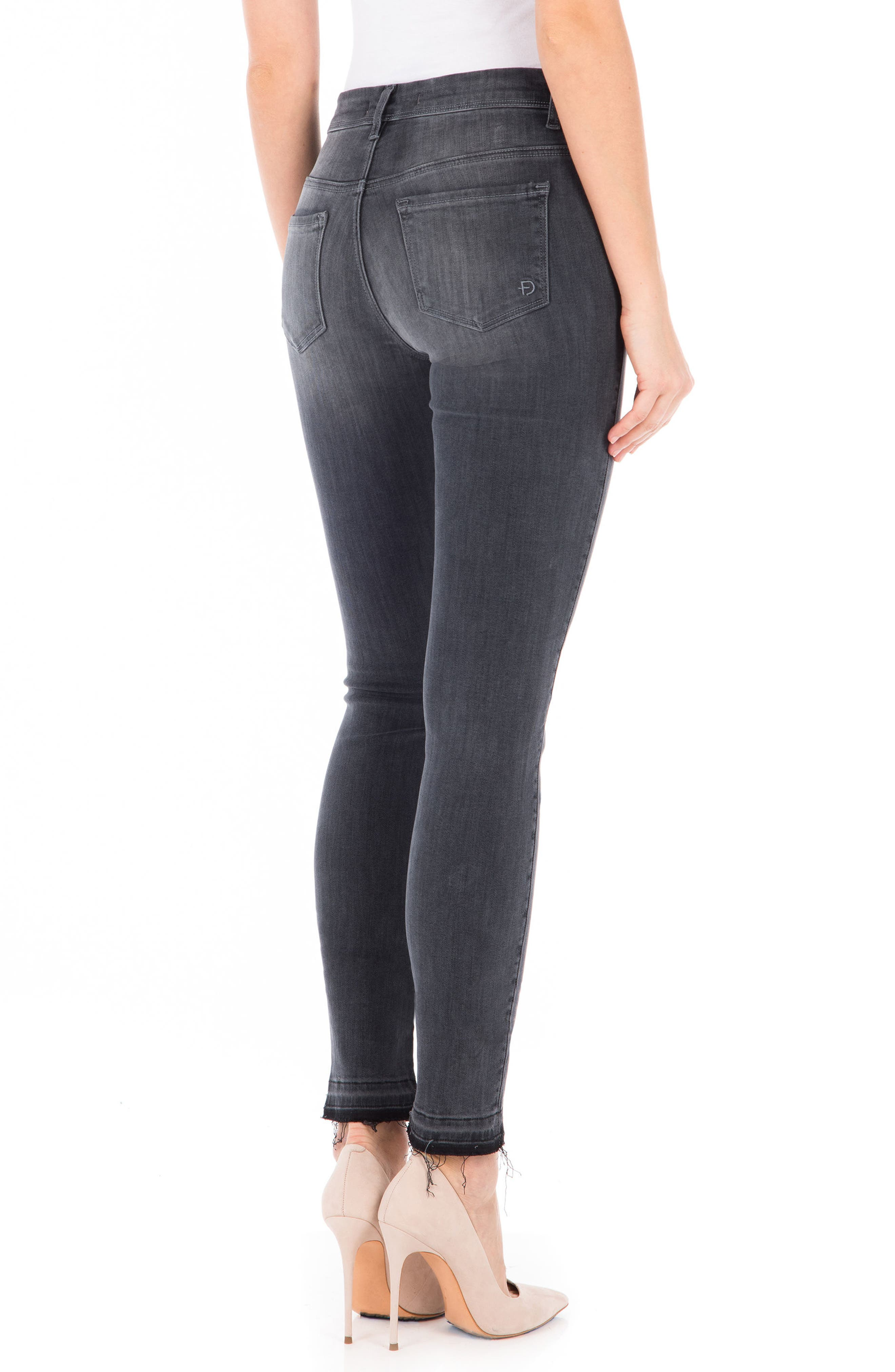 Gwen High Waist Skinny Jeans,                             Alternate thumbnail 2, color,                             001