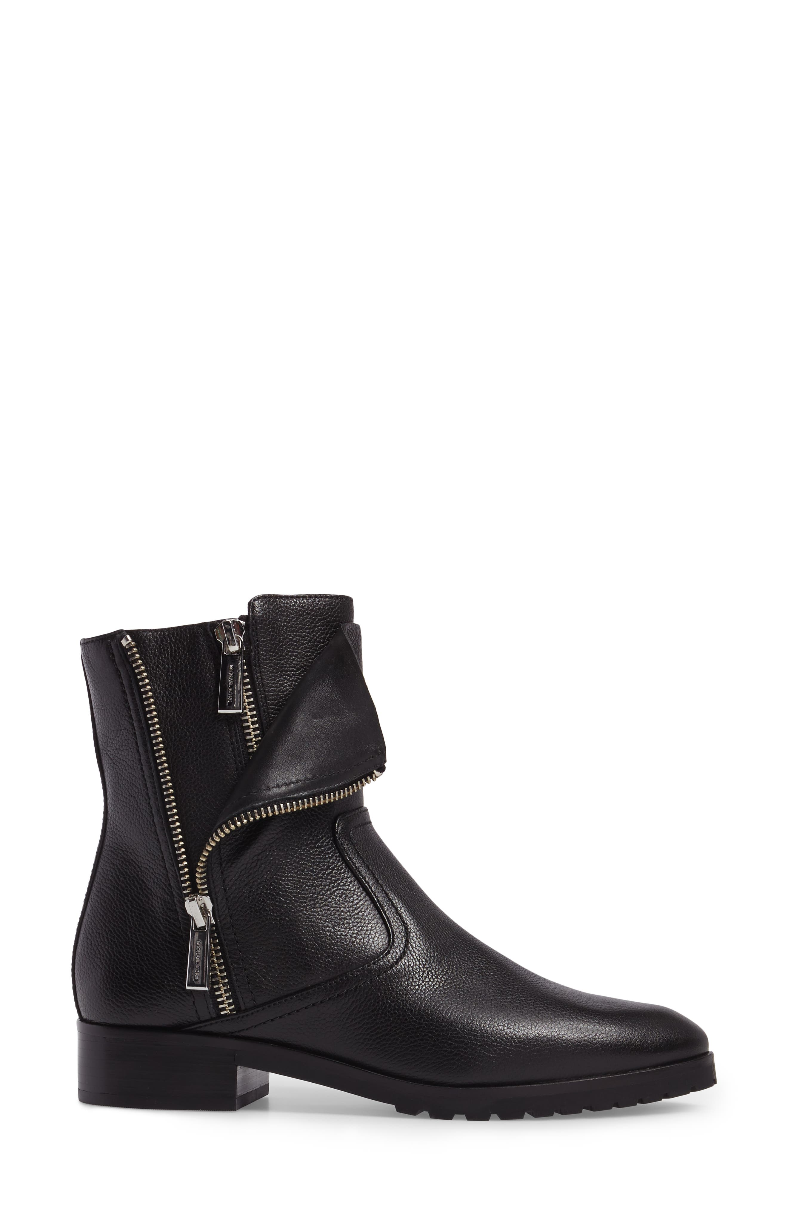 Andi Flat Bootie,                             Alternate thumbnail 3, color,                             001