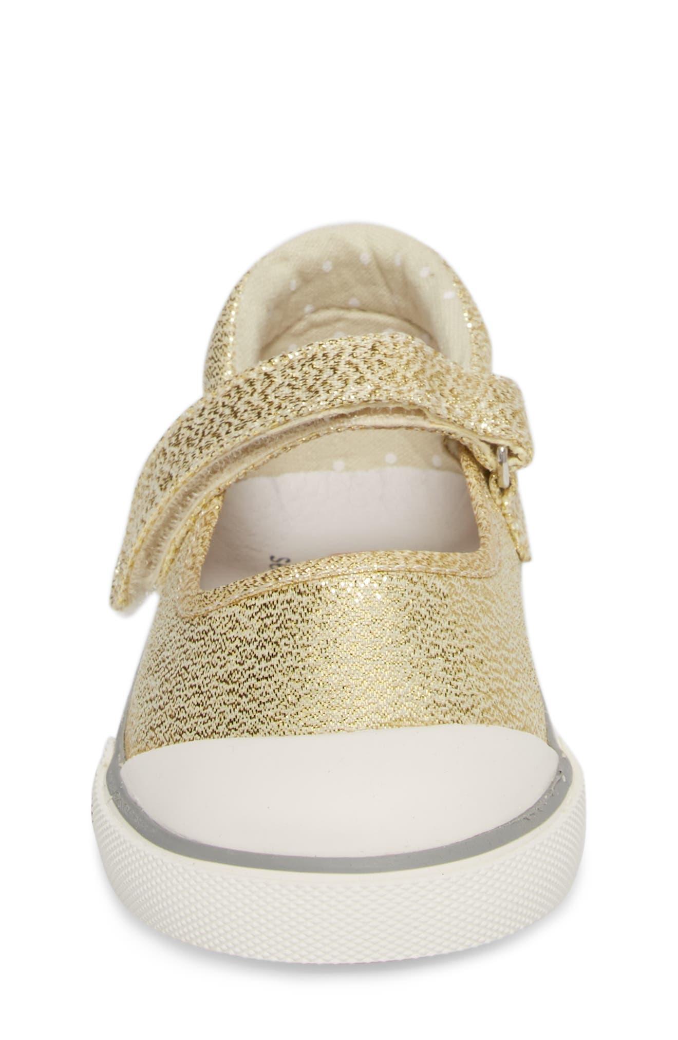 'Marie' Mary Jane Sneaker,                             Alternate thumbnail 4, color,                             METALLIC GOLD