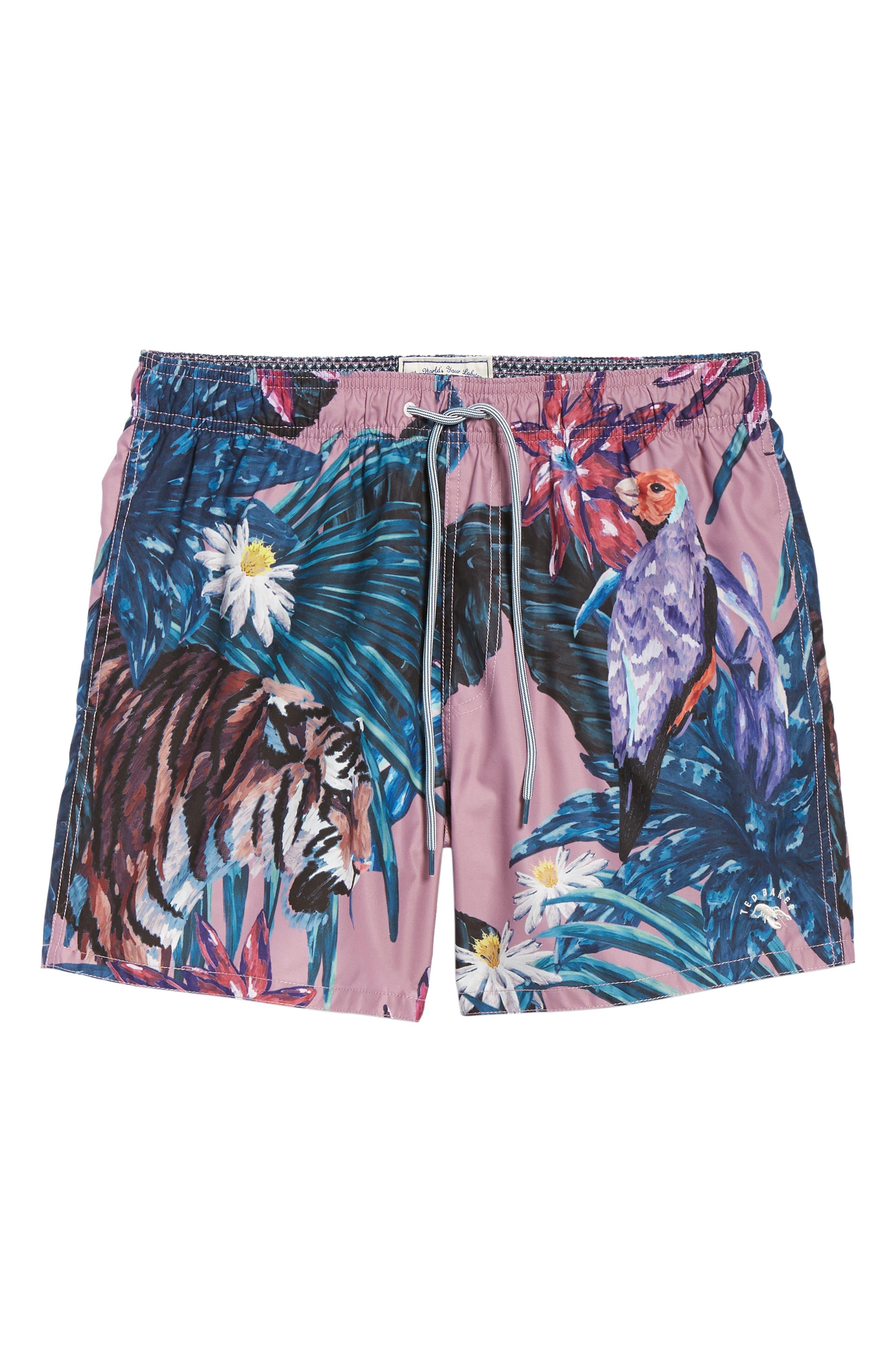 Nemo Tiger Print Swim Shorts,                             Alternate thumbnail 6, color,                             660