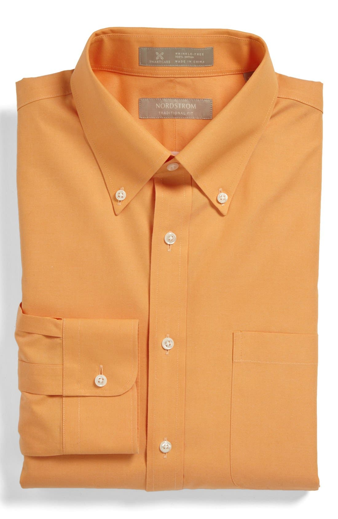 Smartcare<sup>™</sup> Traditional Fit Pinpoint Dress Shirt,                             Main thumbnail 42, color,