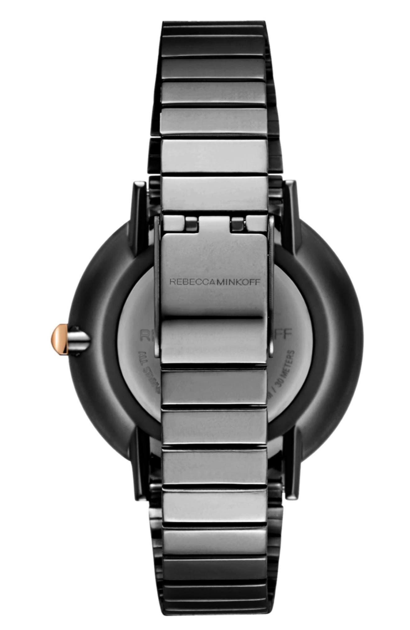 Major Bracelet Watch, 35mm,                             Alternate thumbnail 2, color,                             GUNMETAL/ ROSE GOLD