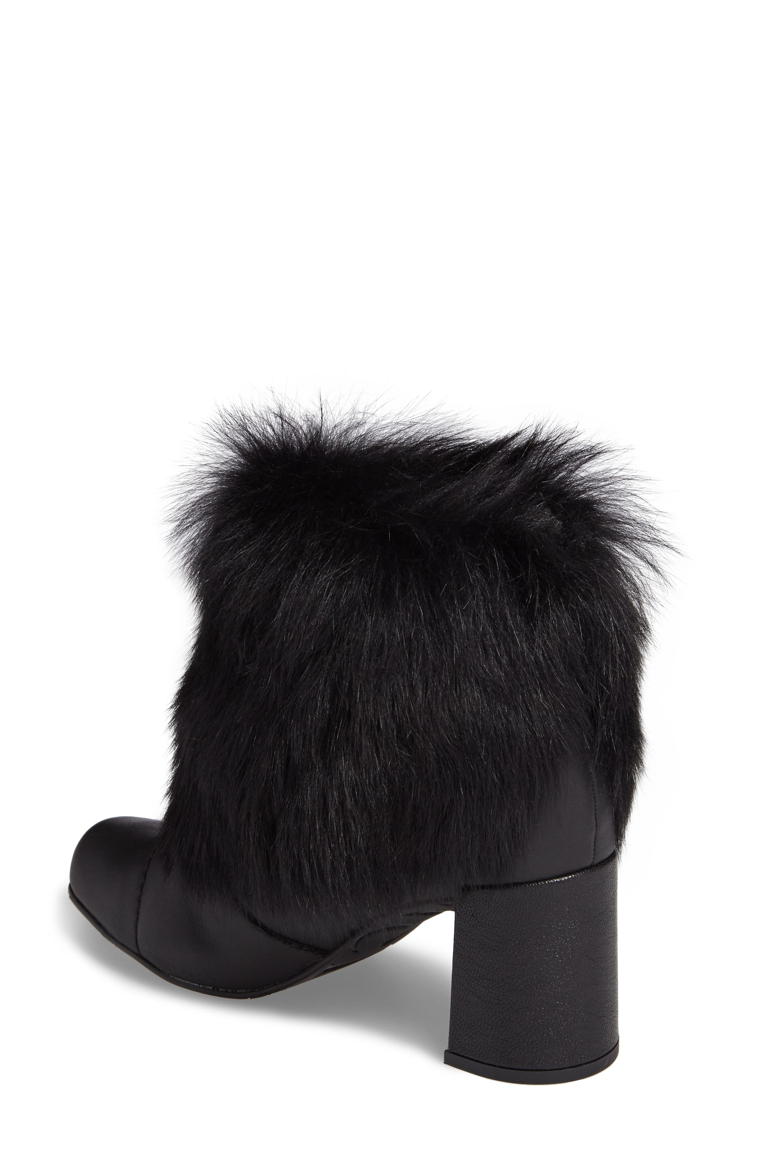 Woka Genuine Shearling Bootie,                             Alternate thumbnail 2, color,                             001
