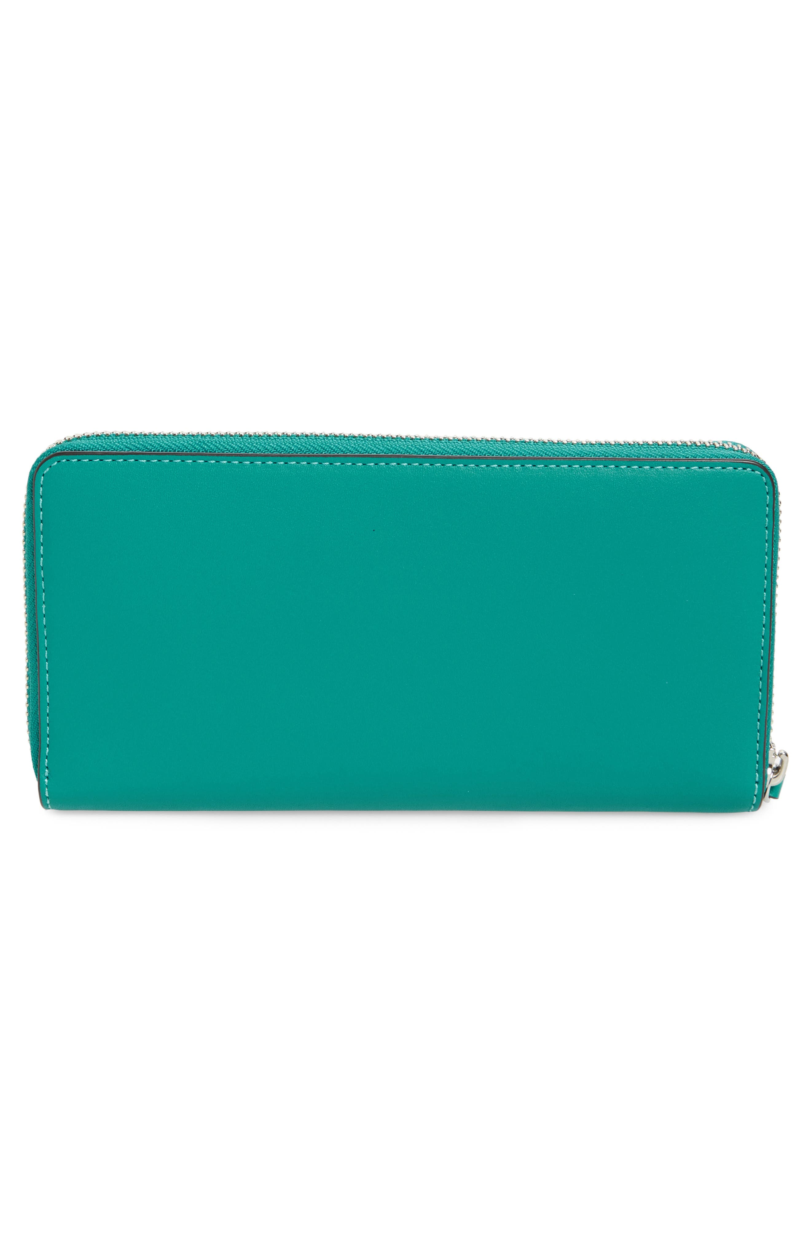 Charlie Leather Continental Wallet,                             Alternate thumbnail 8, color,