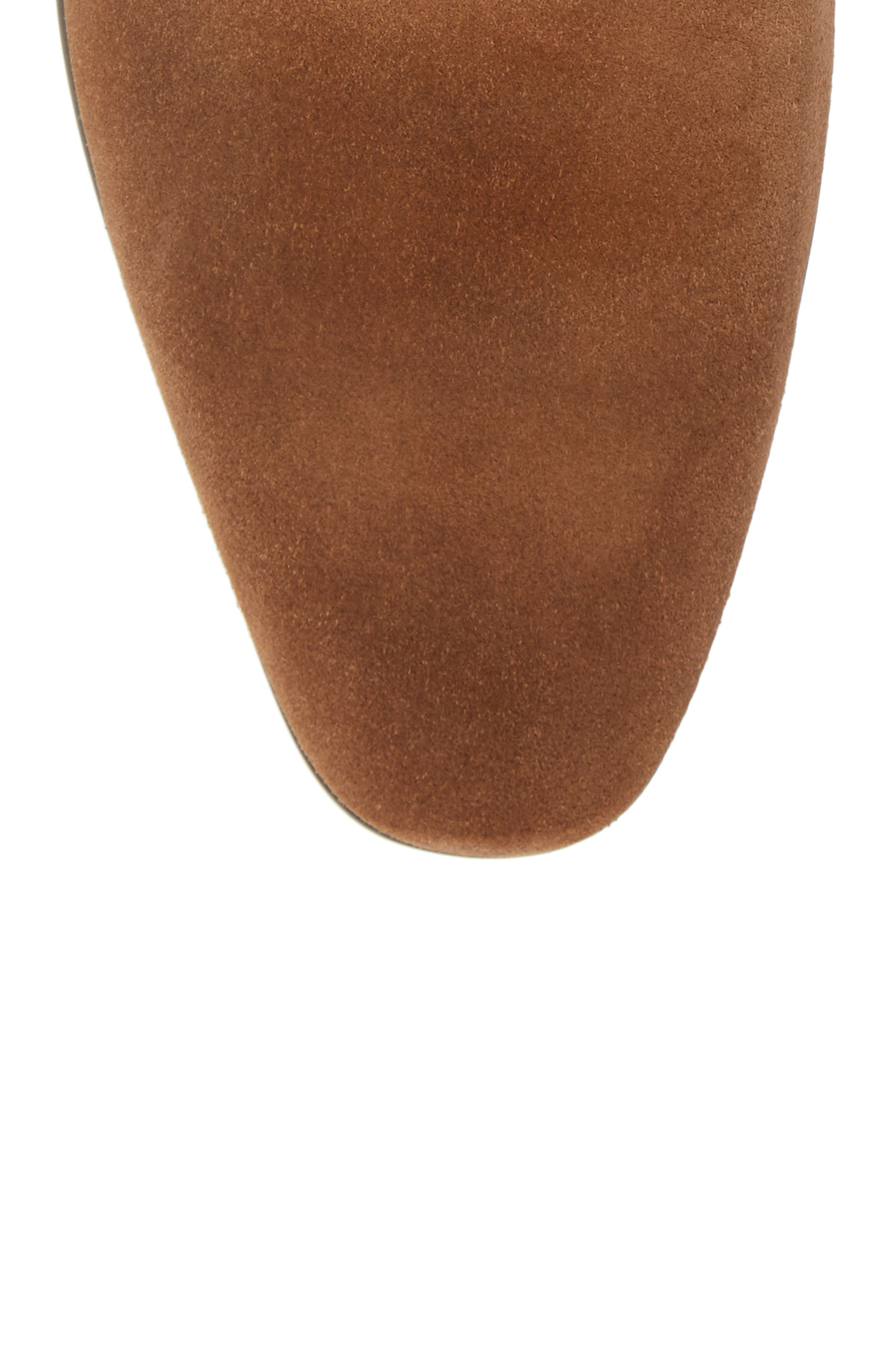Edward Chelsea Boot,                             Alternate thumbnail 5, color,                             CHESTNUT SUEDE