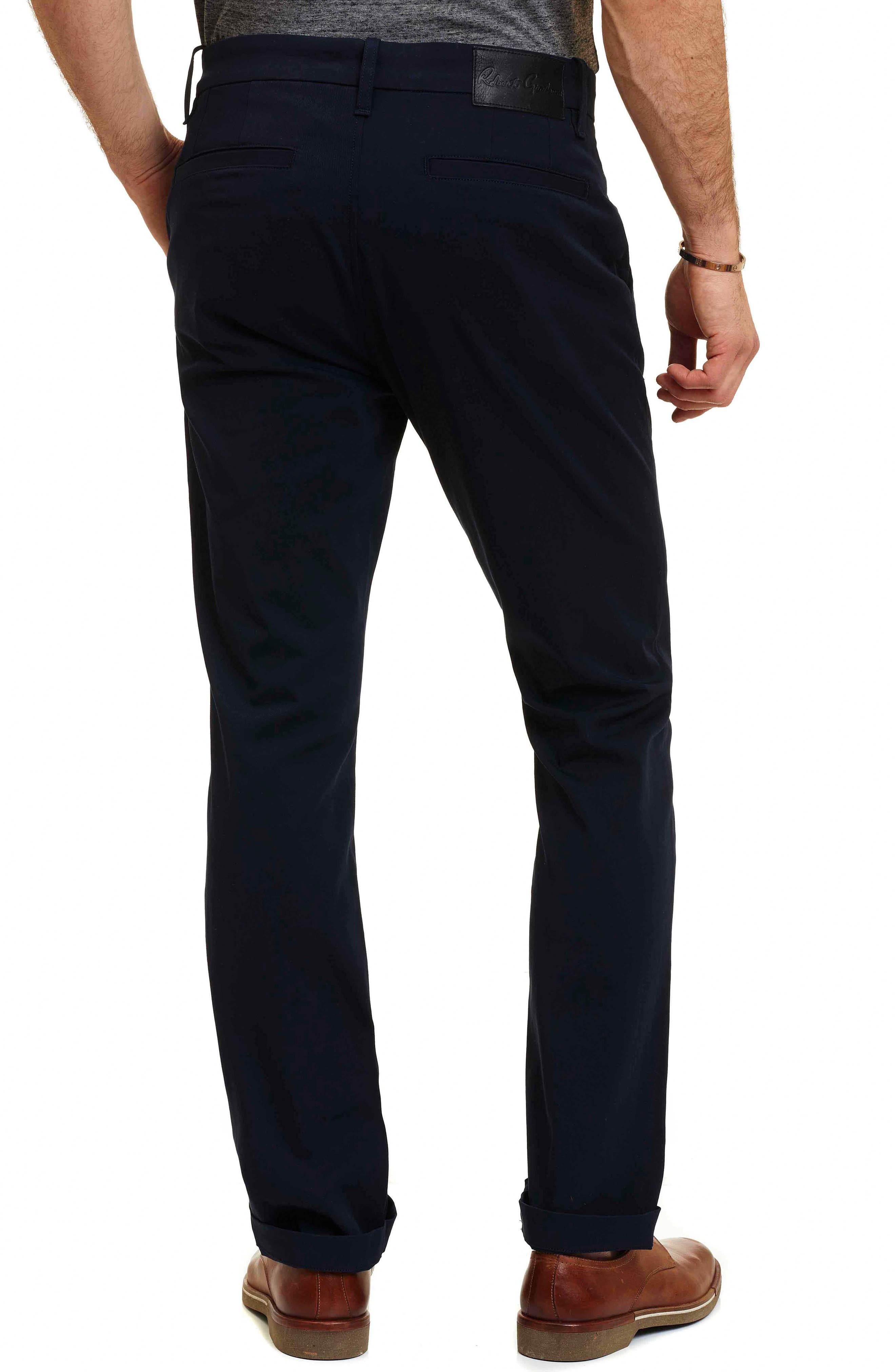 Layton Tailored Fit Stretch Cotton Pants,                             Alternate thumbnail 3, color,