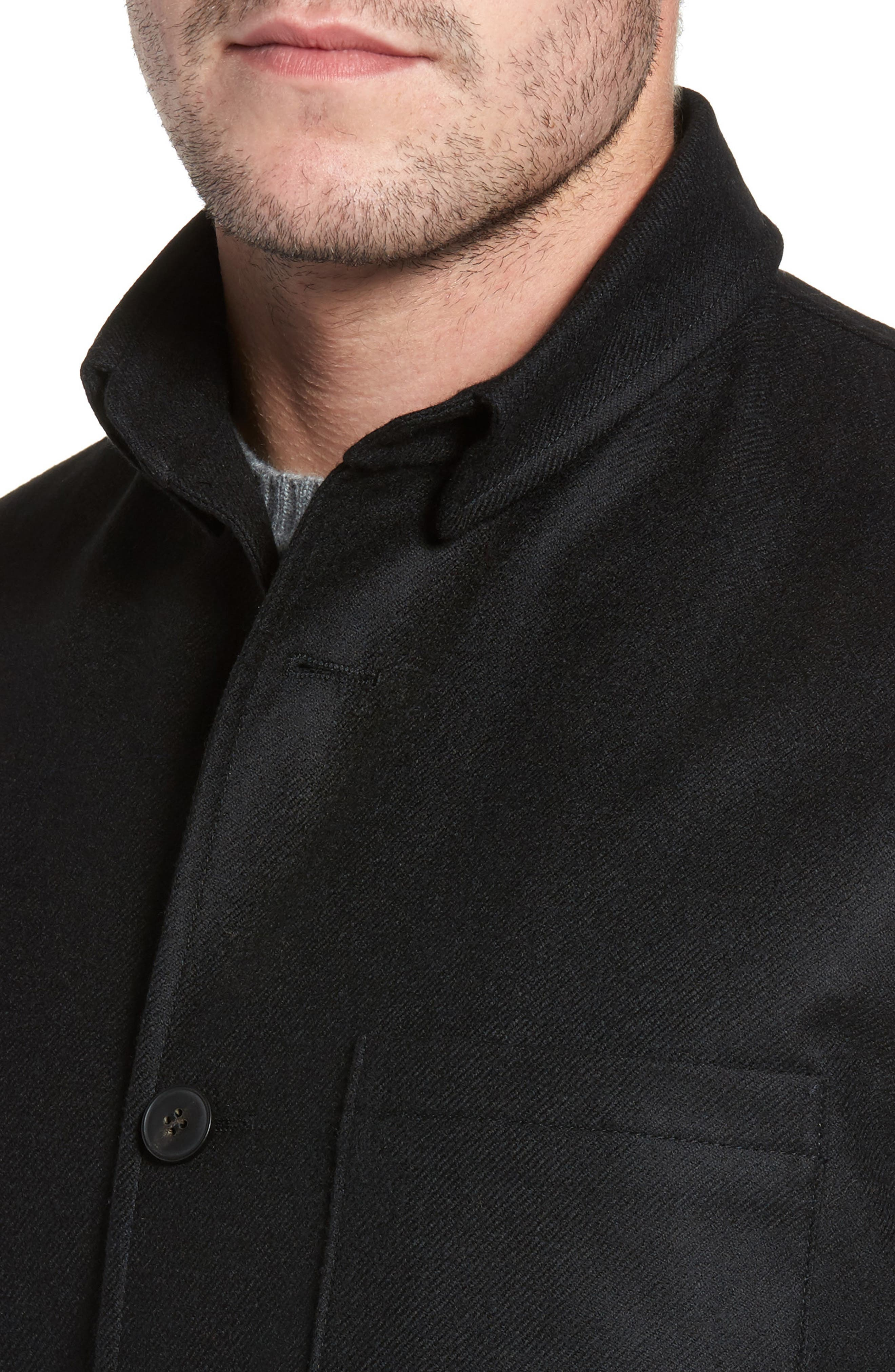 Loro Piana Storm System Shirt Jacket,                             Alternate thumbnail 4, color,                             002