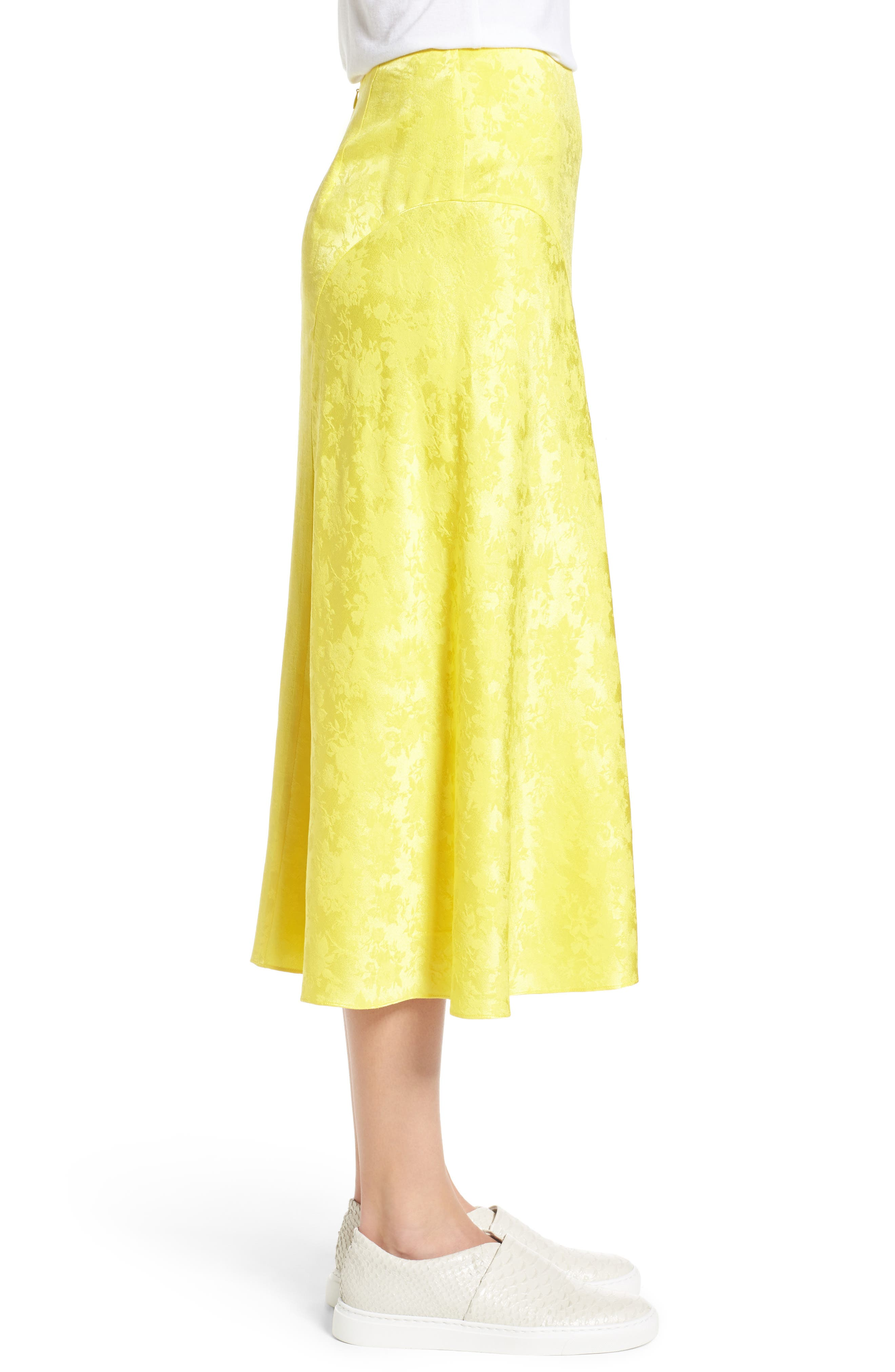 Jacquard Silk Midi Skirt,                             Alternate thumbnail 3, color,                             720