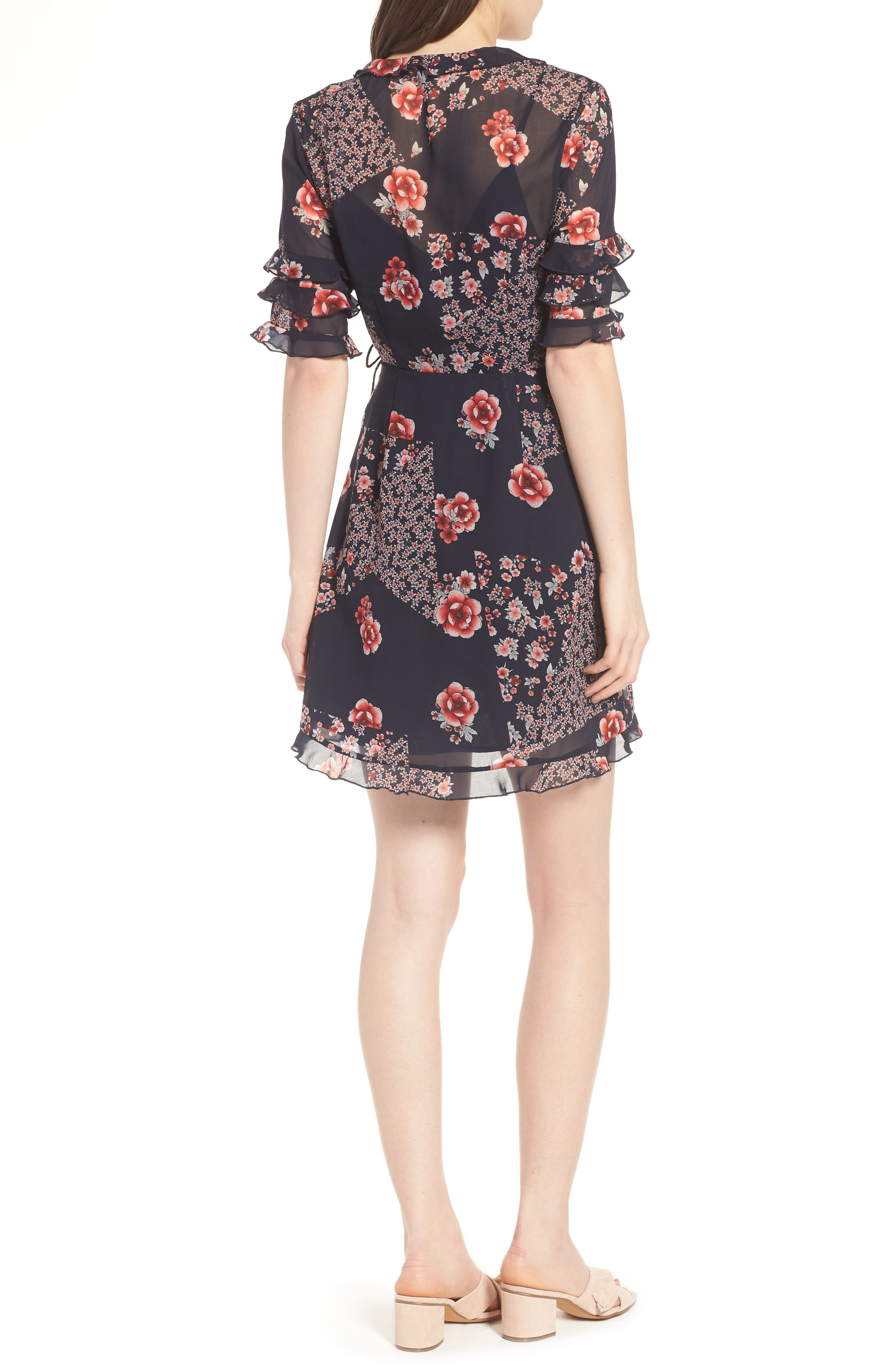 East Floral Wrap Dress,                             Alternate thumbnail 2, color,                             421