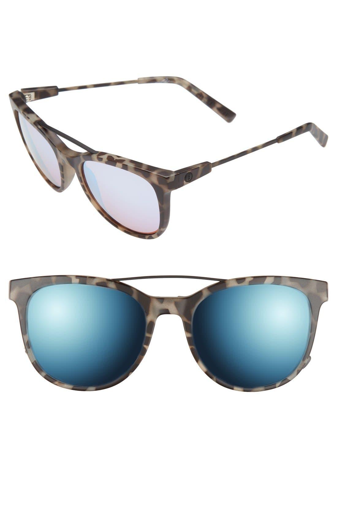 'Bengal' 54mm Sunglasses,                             Main thumbnail 1, color,                             NUDE TORTOISE/ ROSE SKY BLUE