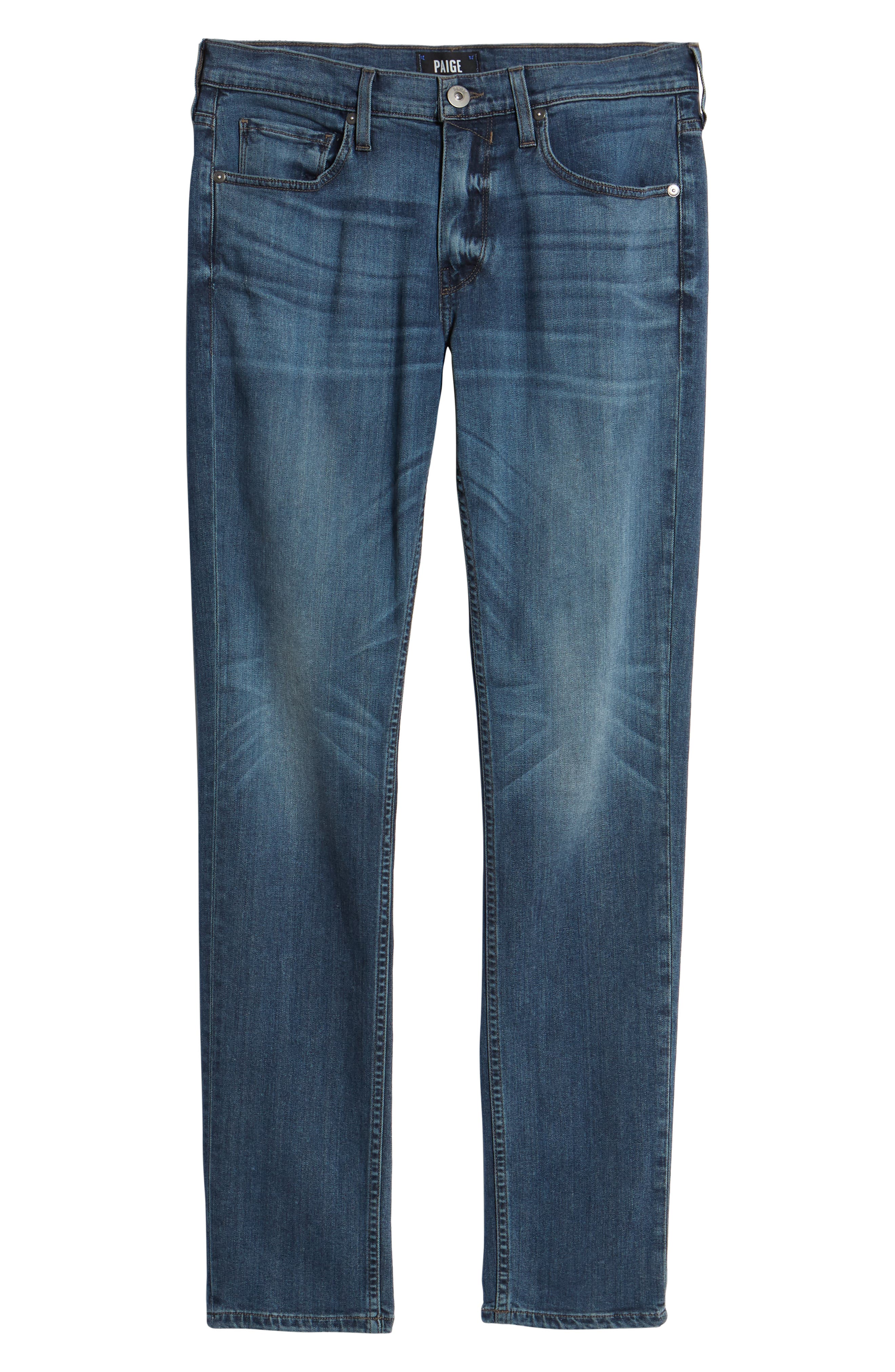 Transcend - Croft Skinny Fit Jeans,                             Alternate thumbnail 6, color,                             GRAMMERCY