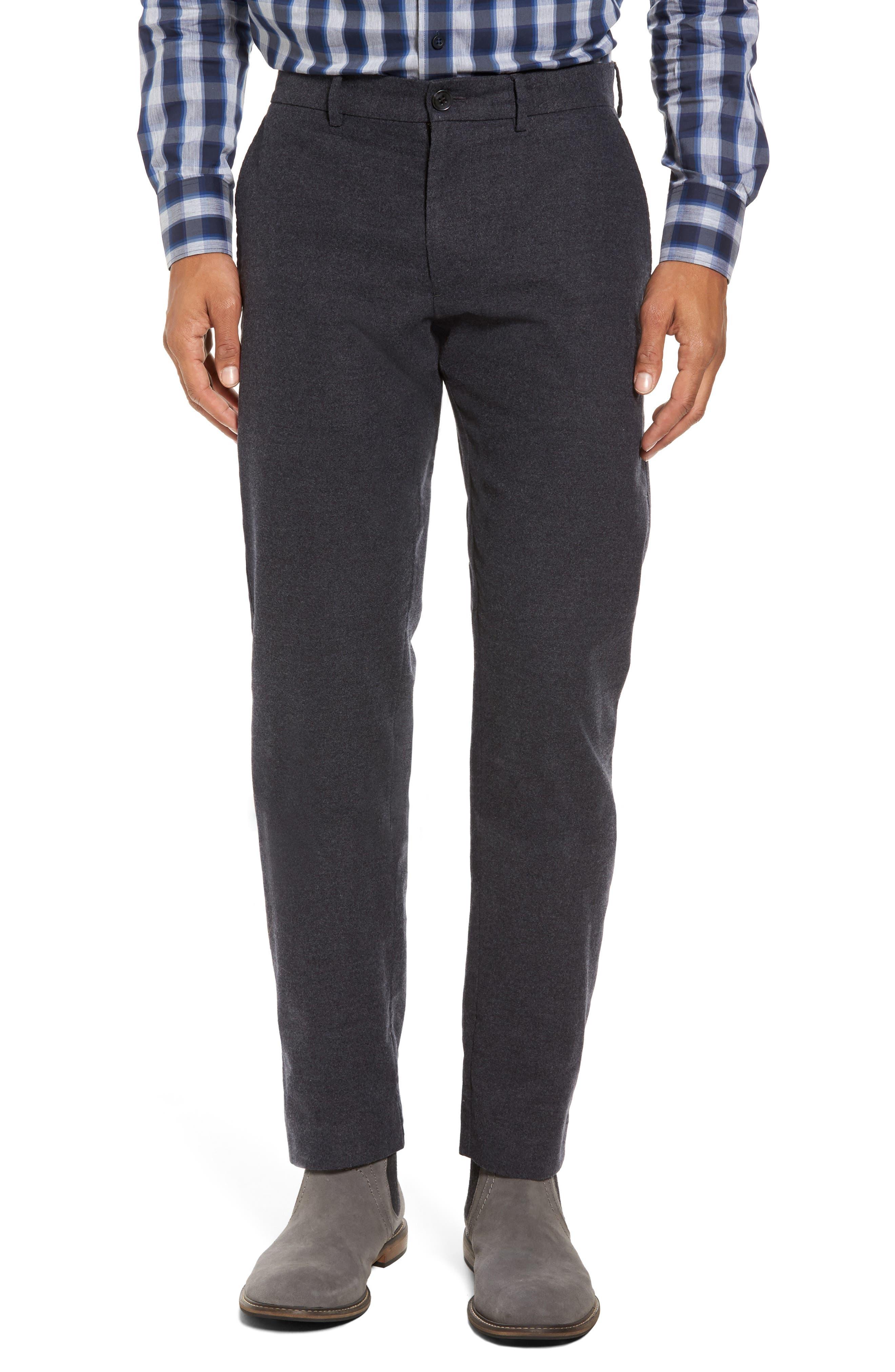 Slim Leg Flannel Chinos,                         Main,                         color, 021