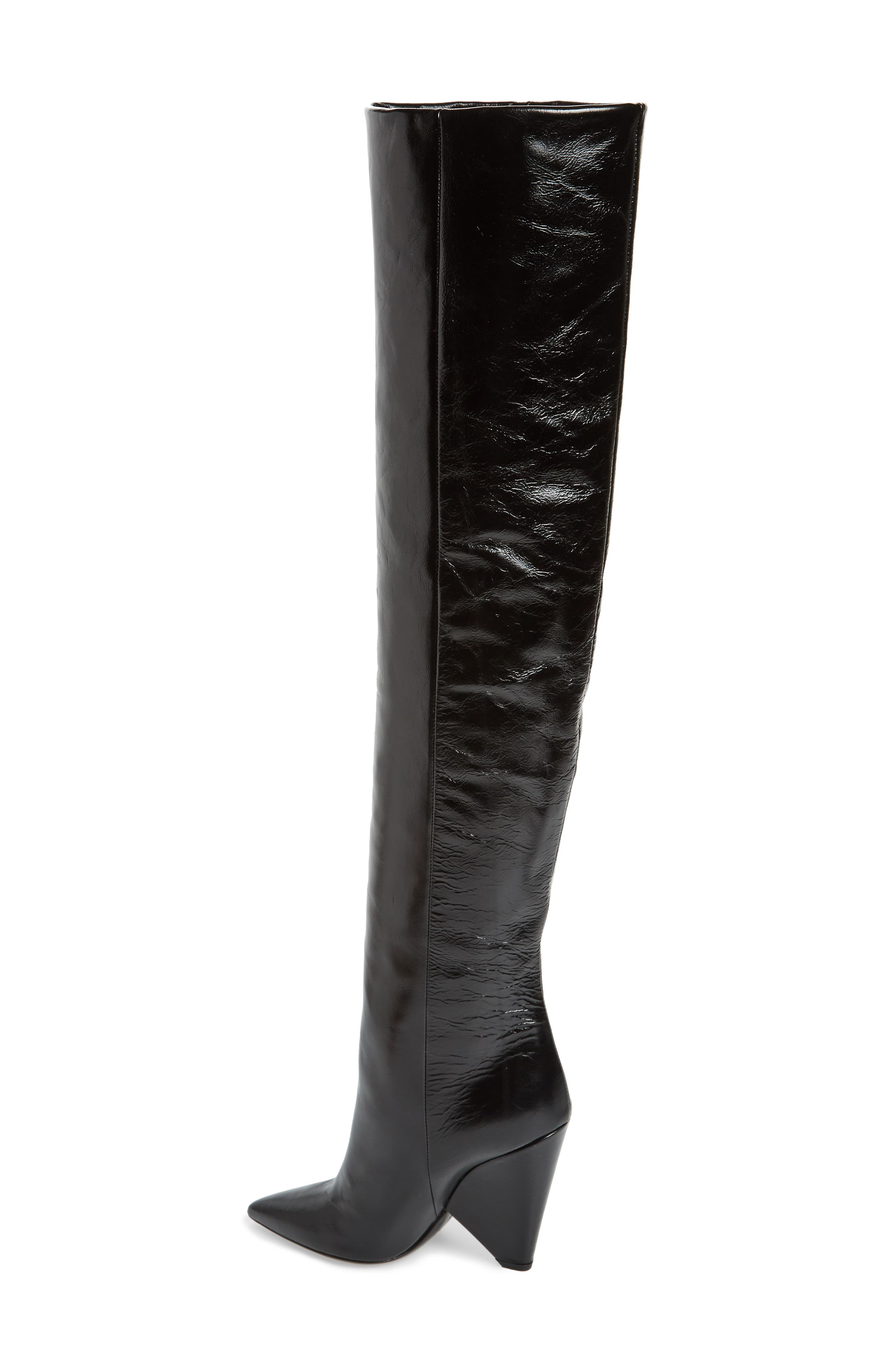 Niki Over the Knee Boot,                             Alternate thumbnail 2, color,                             BLACK