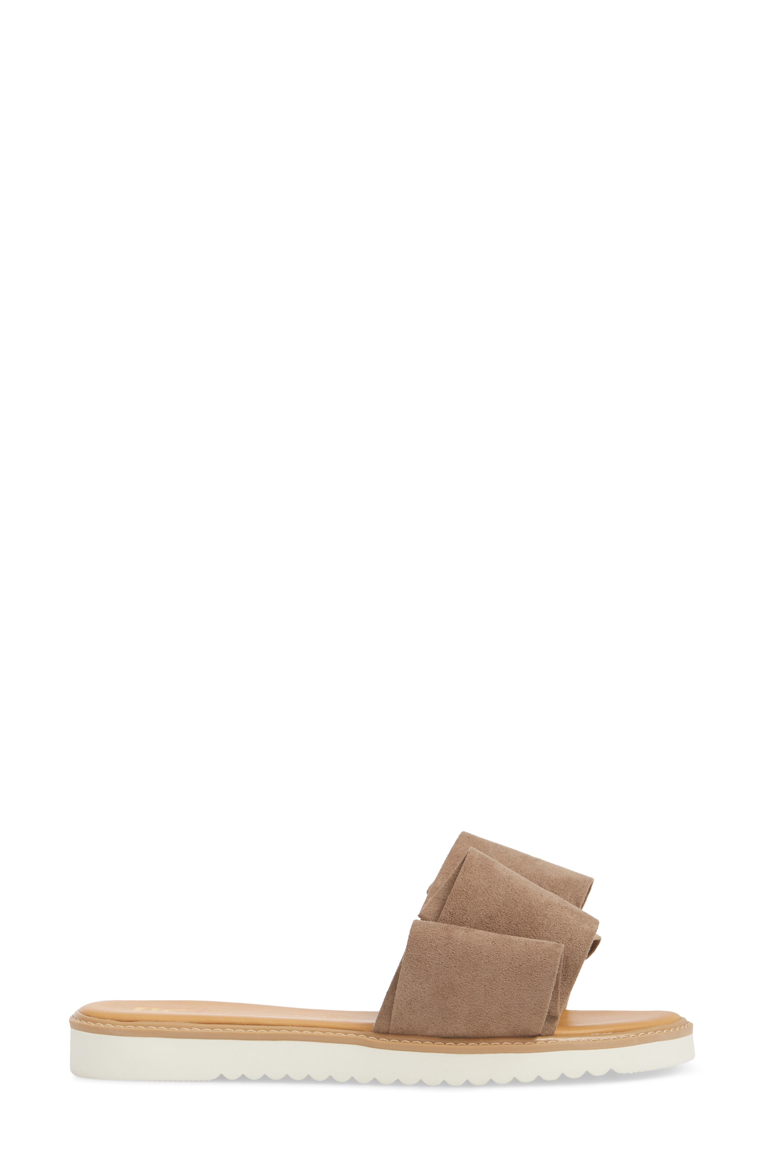 Fun for All Ages Pleated Sandal,                             Alternate thumbnail 3, color,                             TAUPE SUEDE