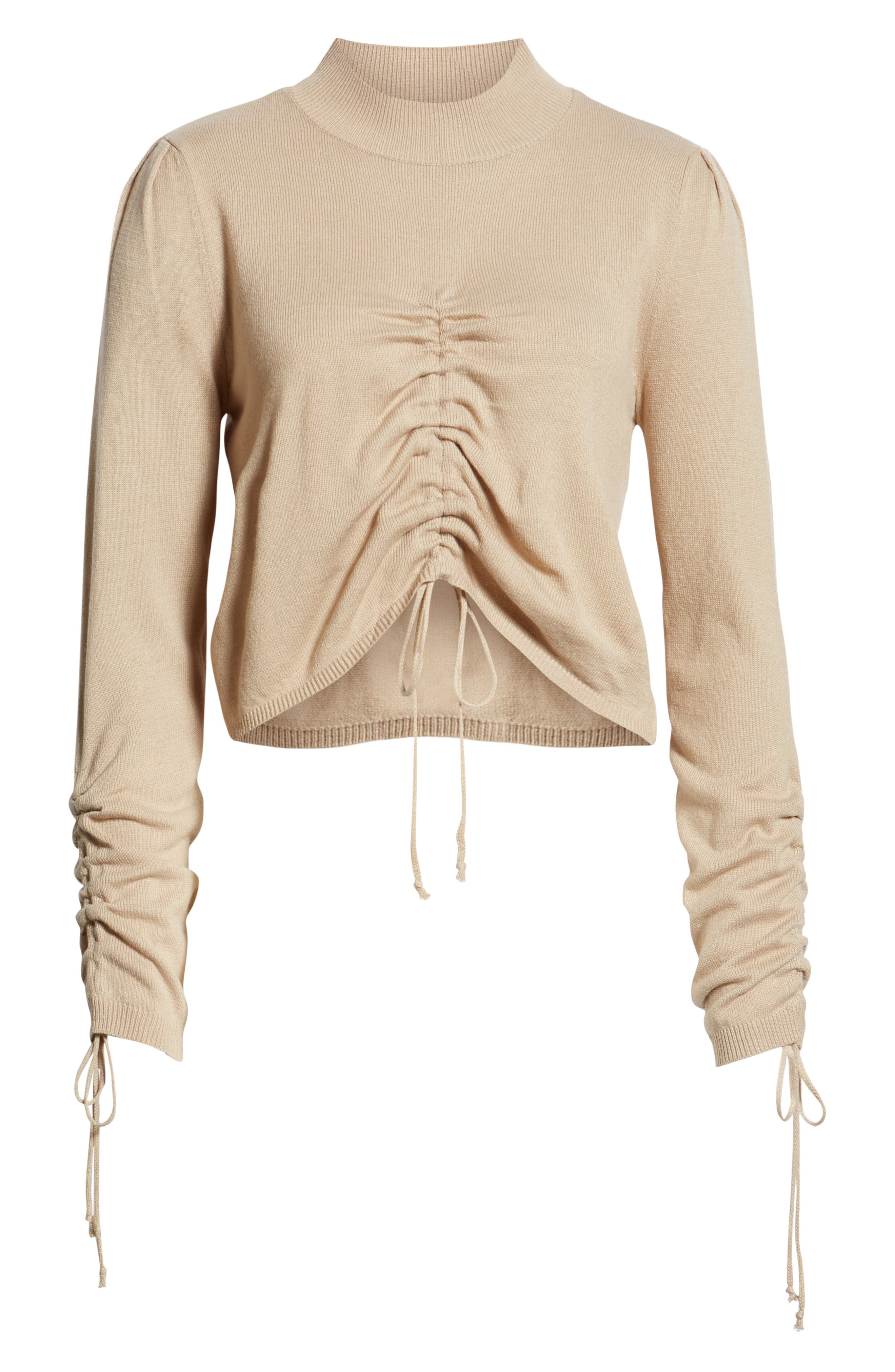 Ruched Front Sweater,                             Alternate thumbnail 6, color,                             250