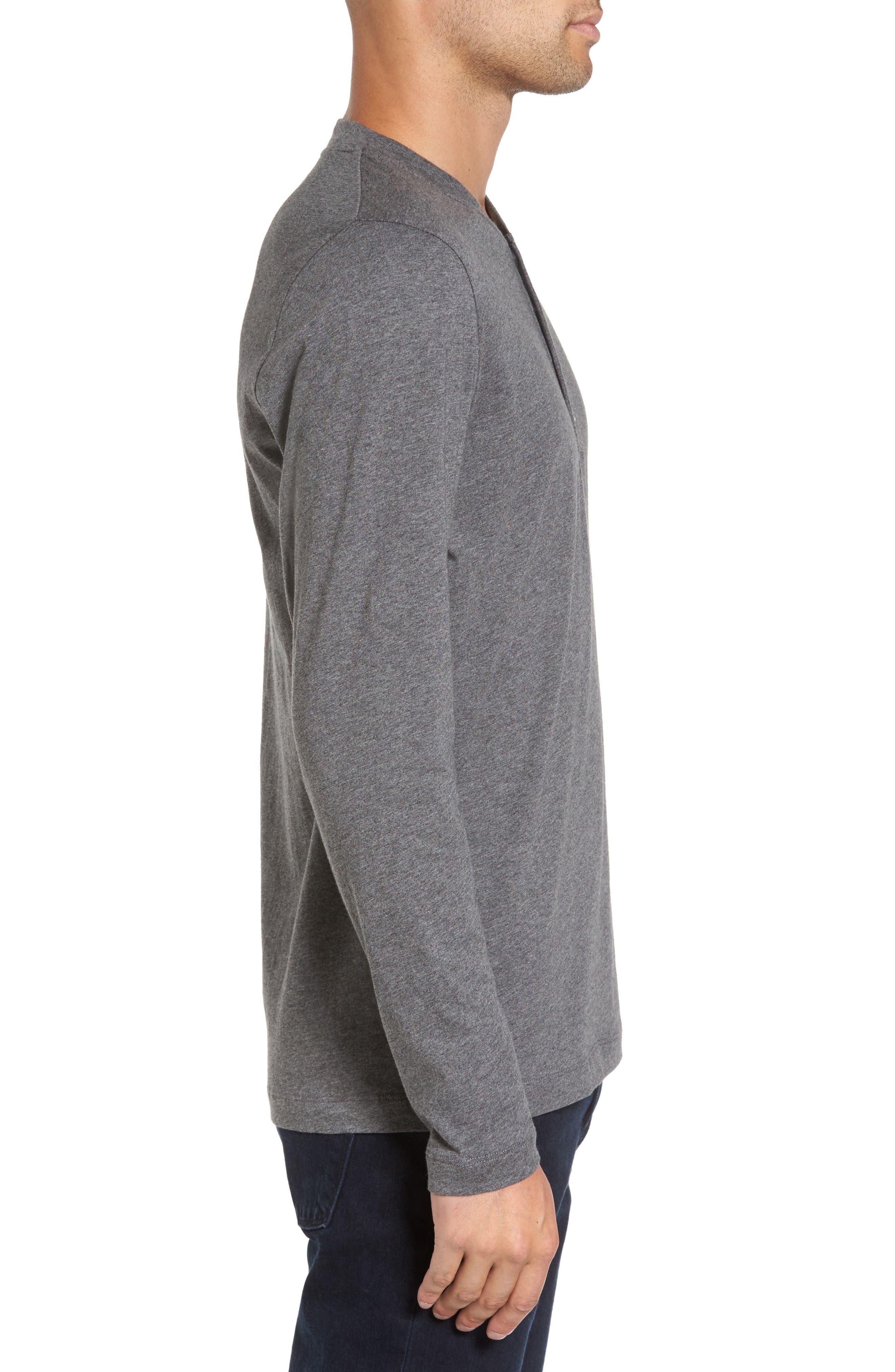 Long Sleeve Henley T-Shirt,                             Alternate thumbnail 3, color,                             020
