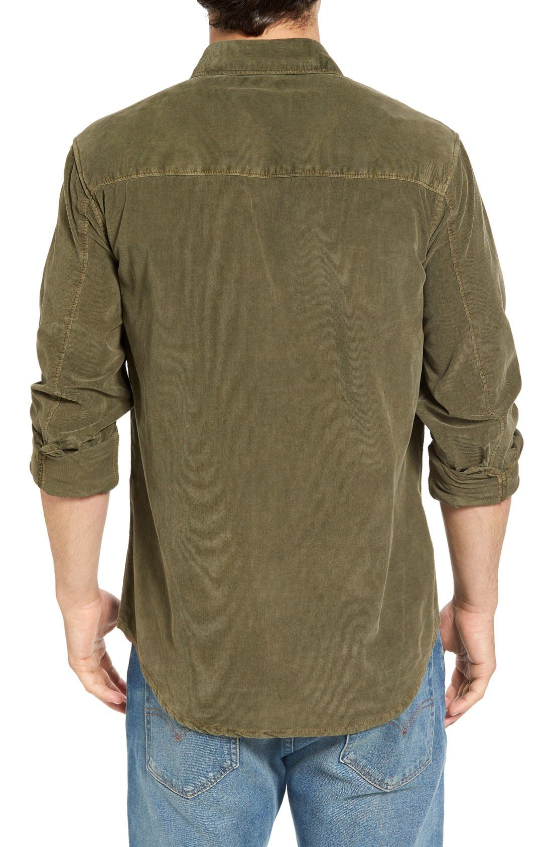 'Jaymes' Pigment Dyed Corduroy Shirt,                             Alternate thumbnail 7, color,