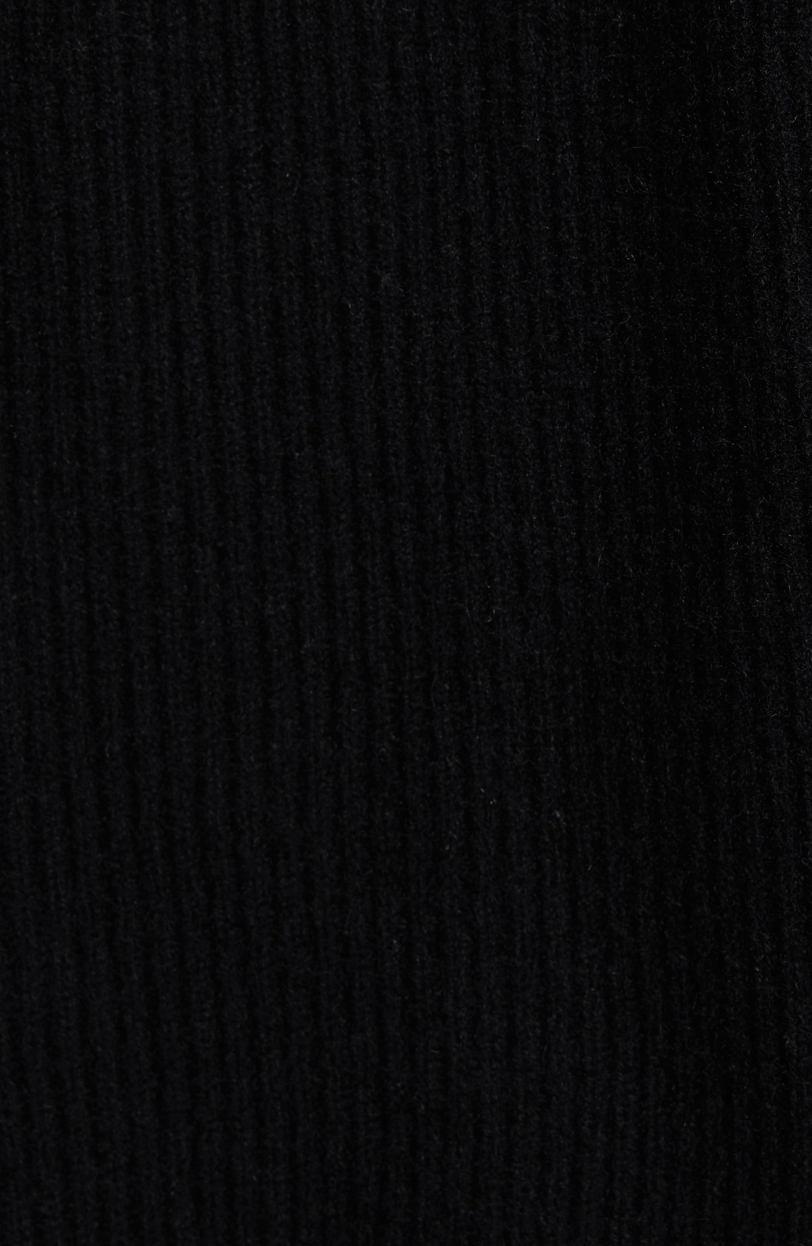 Diagonal Rib Wool & Cashmere Sweater,                             Alternate thumbnail 5, color,                             001