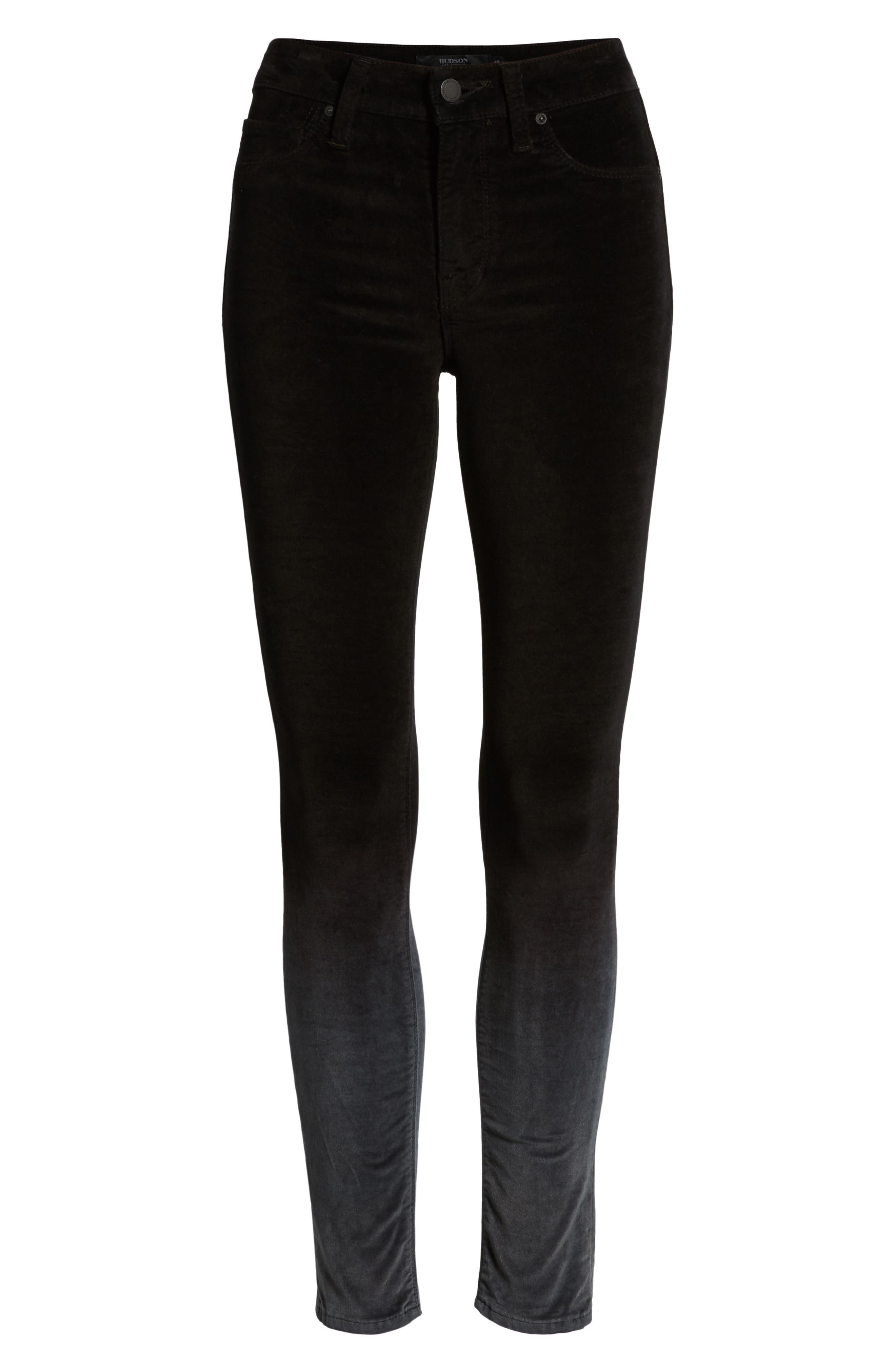 Nico Ankle Super Skinny Jeans,                             Alternate thumbnail 7, color,                             DEGRADE BLACK SLATE