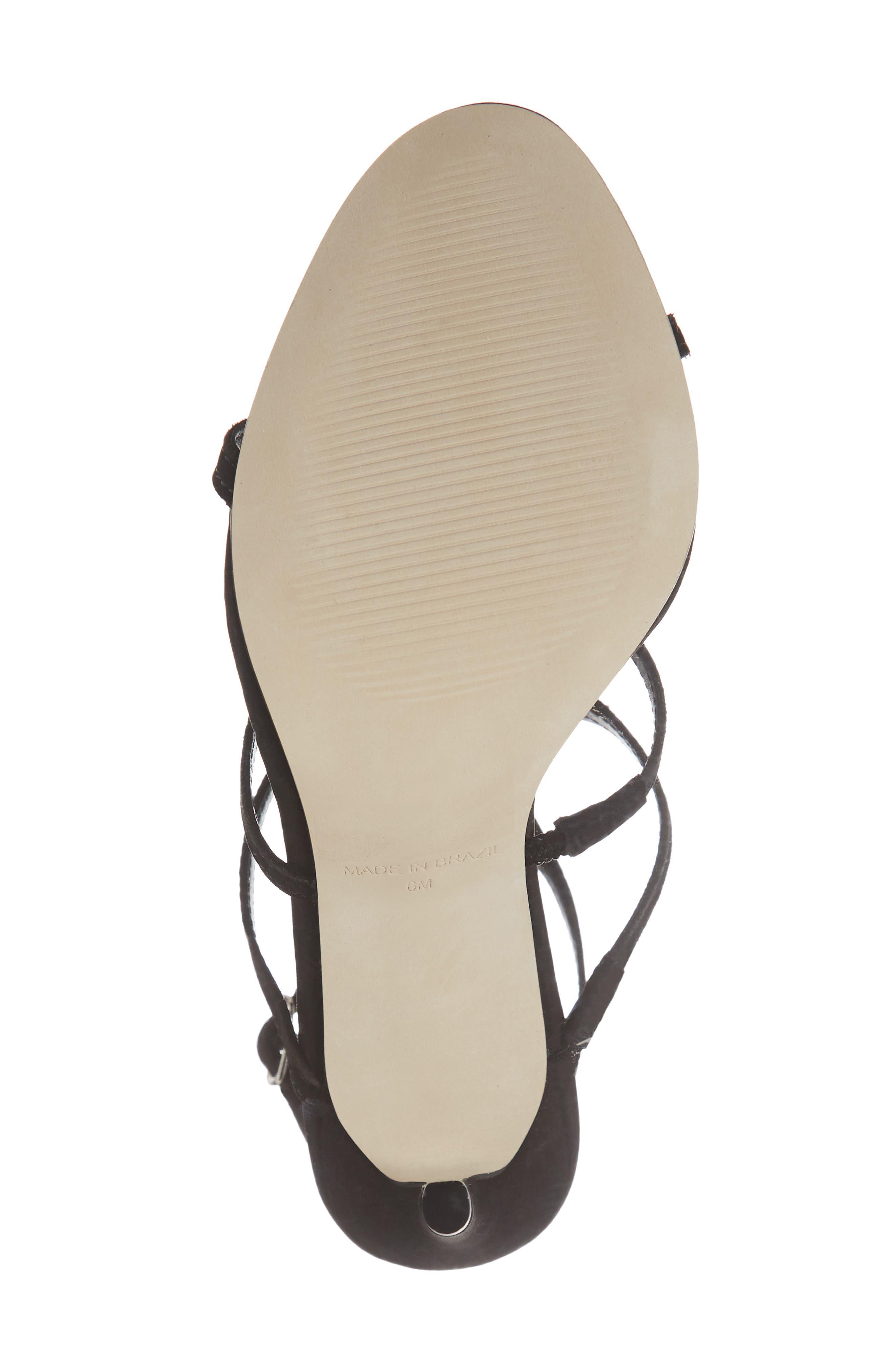 Sprung Sandal,                             Alternate thumbnail 6, color,                             BLACK NUBUCK