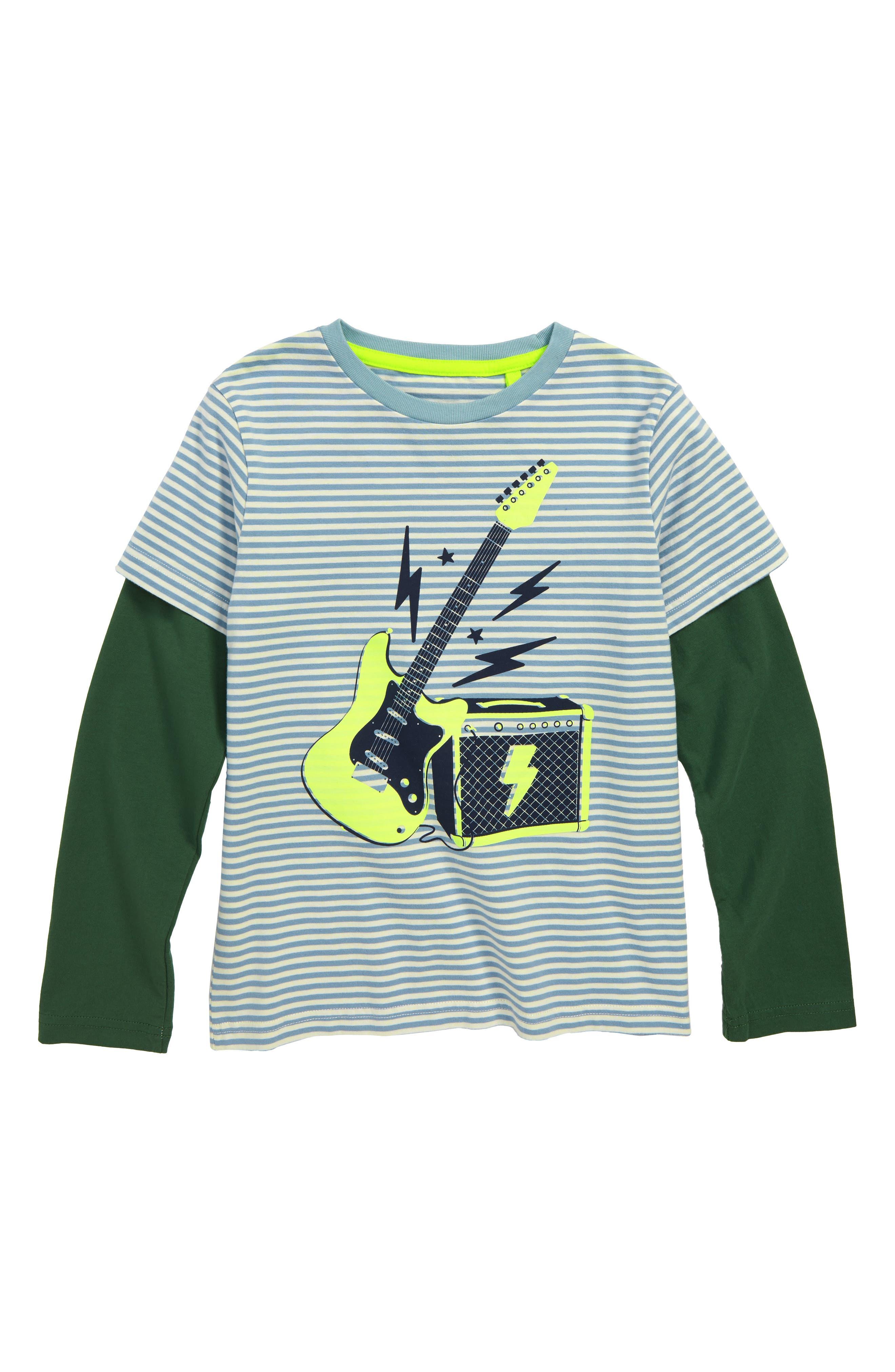 Stripy Guitar T-Shirt,                         Main,                         color, 424