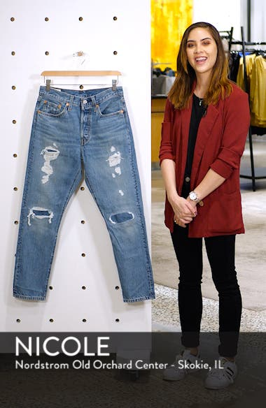 501<sup>®</sup> Distressed Skinny Jeans, sales video thumbnail