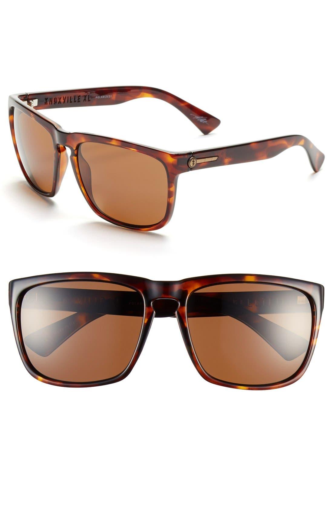 'Knoxville XL' 61mm Polarized Sunglasses,                             Main thumbnail 1, color,                             TORTOISEOISE SHELL/  BRONZE
