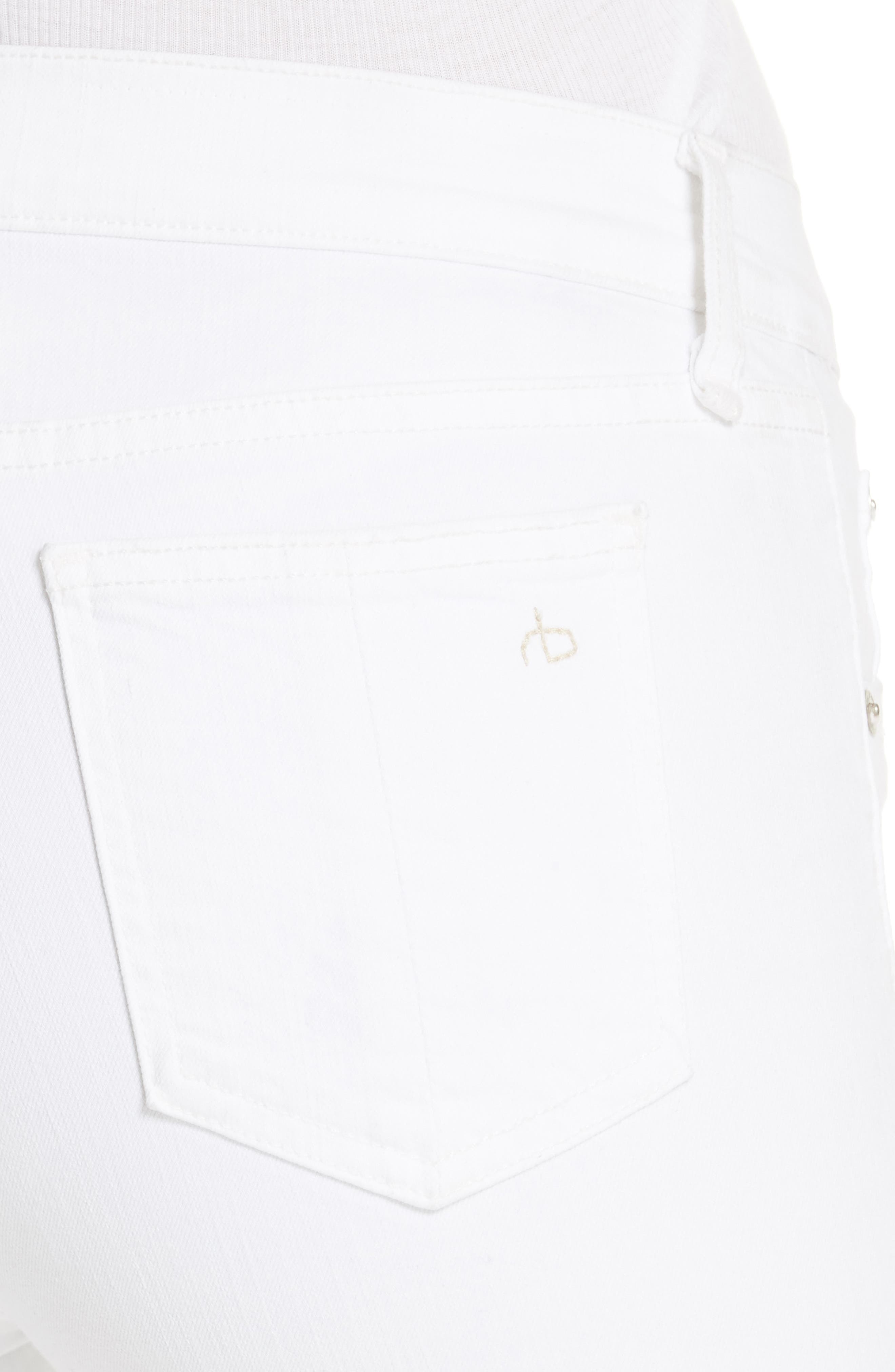 Skinny Jeans,                             Alternate thumbnail 4, color,                             BLANC