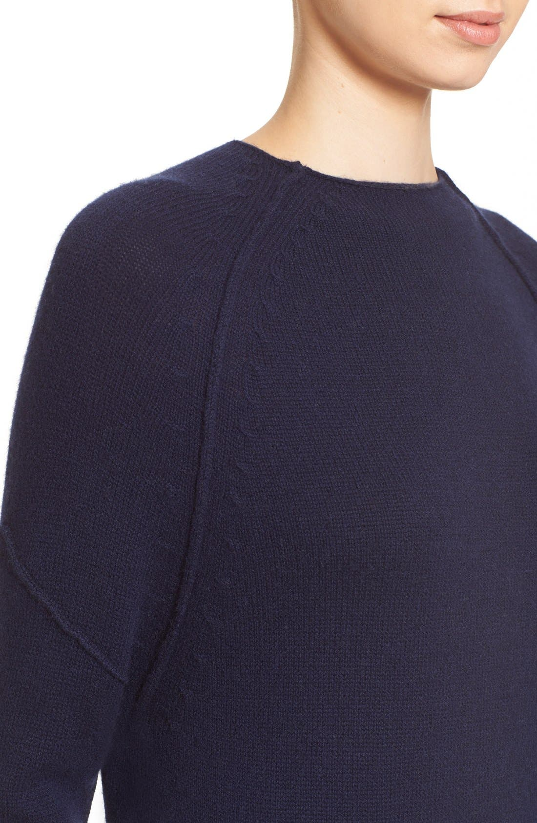 'Looker' Layered Wool & Cashmere Dress,                             Alternate thumbnail 4, color,                             414