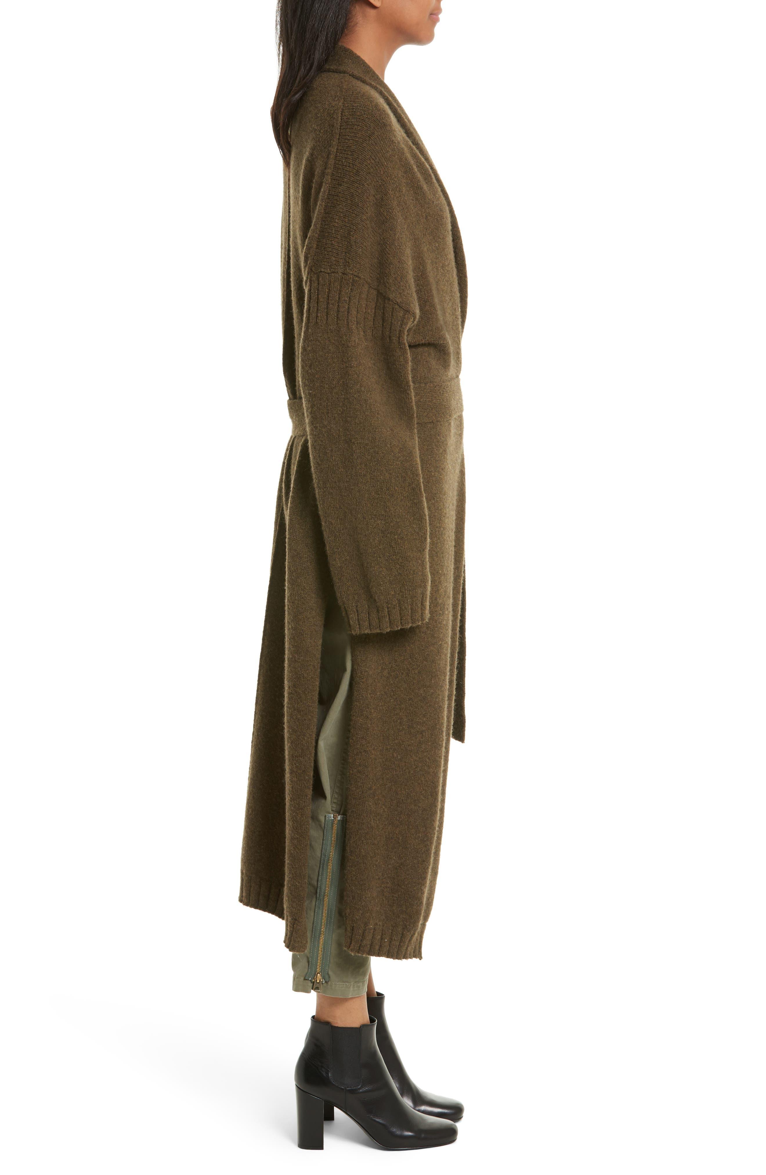 Kinsley Merino Wool Blend Cardigan,                             Alternate thumbnail 3, color,                             310