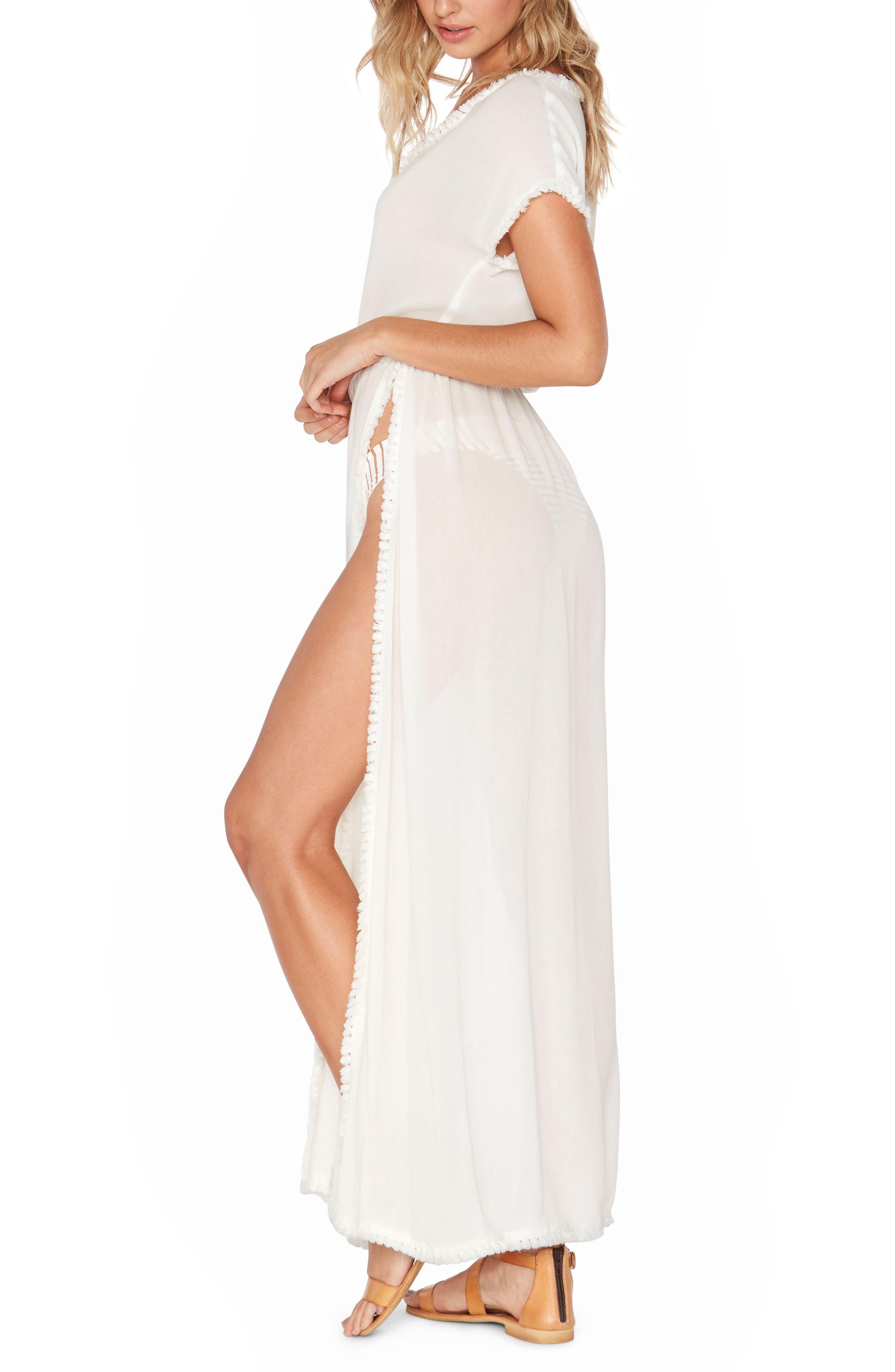 Noveau Cover-Up Maxi Dress,                             Alternate thumbnail 3, color,                             100
