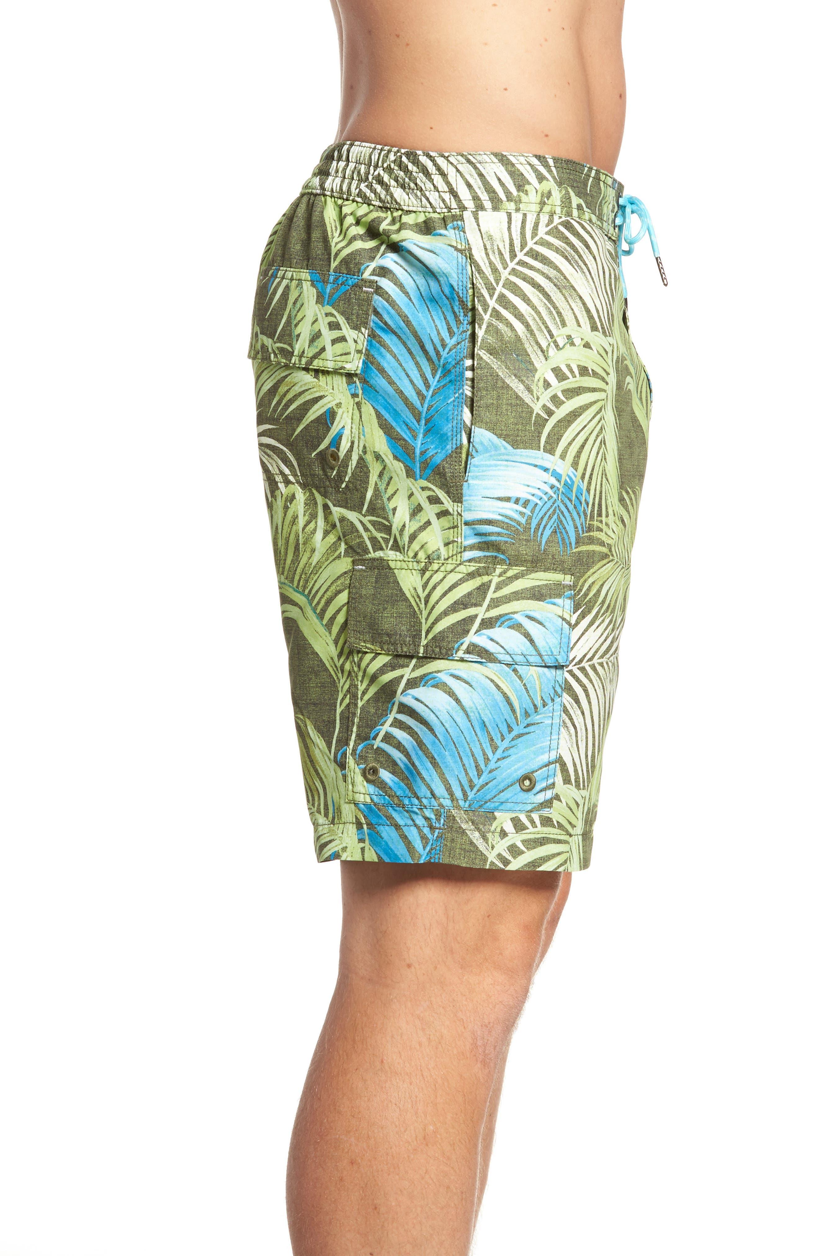 Baja Fez Frond Board Shorts,                             Alternate thumbnail 3, color,