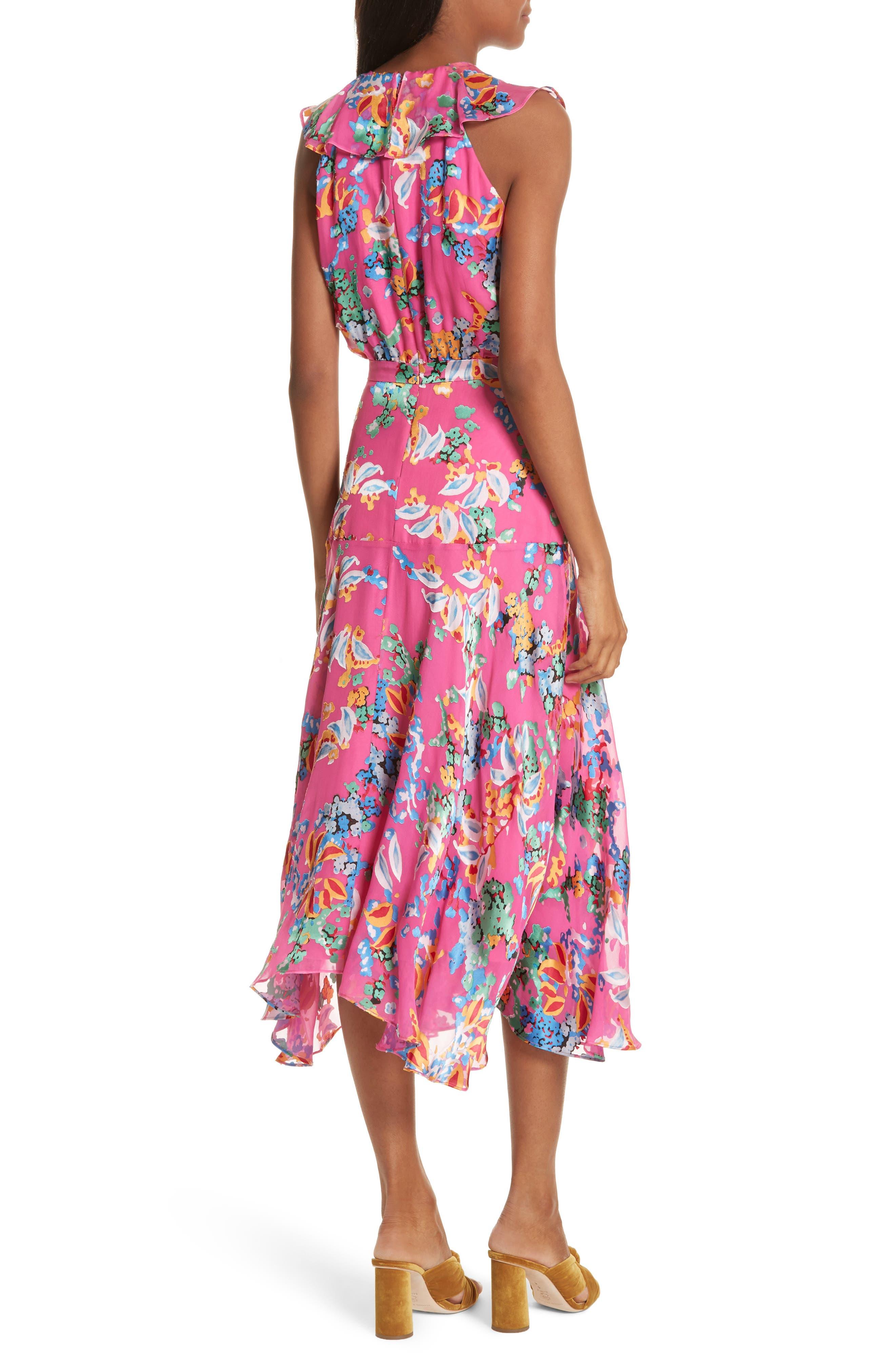 Rita Ruffle Dress,                             Alternate thumbnail 2, color,                             PINK BEGONIA