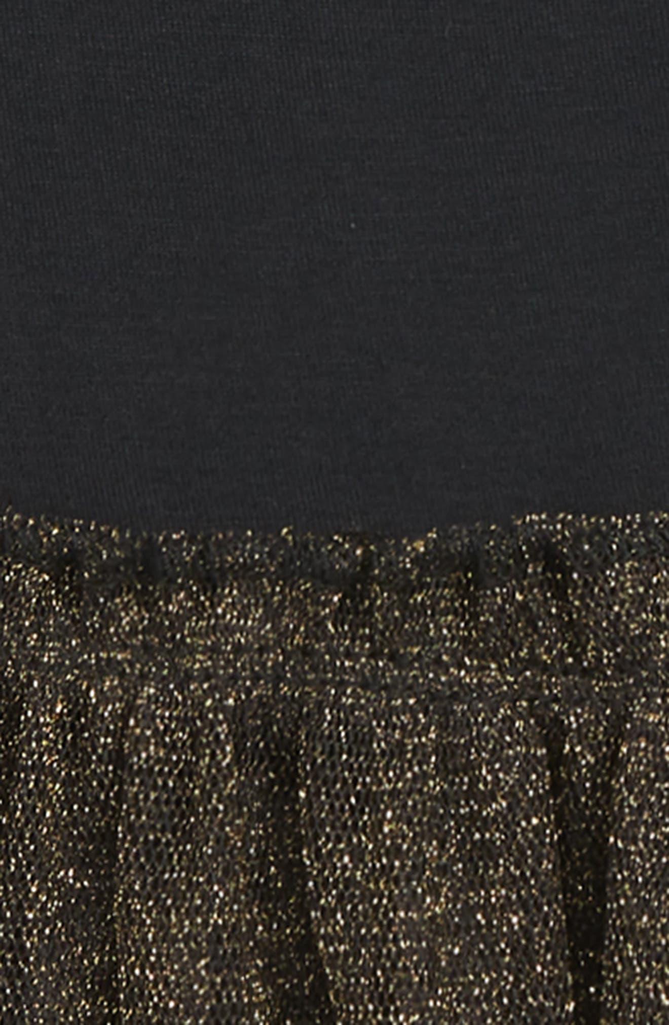 Tulle Peplum Tunic,                             Alternate thumbnail 2, color,                             BLACK