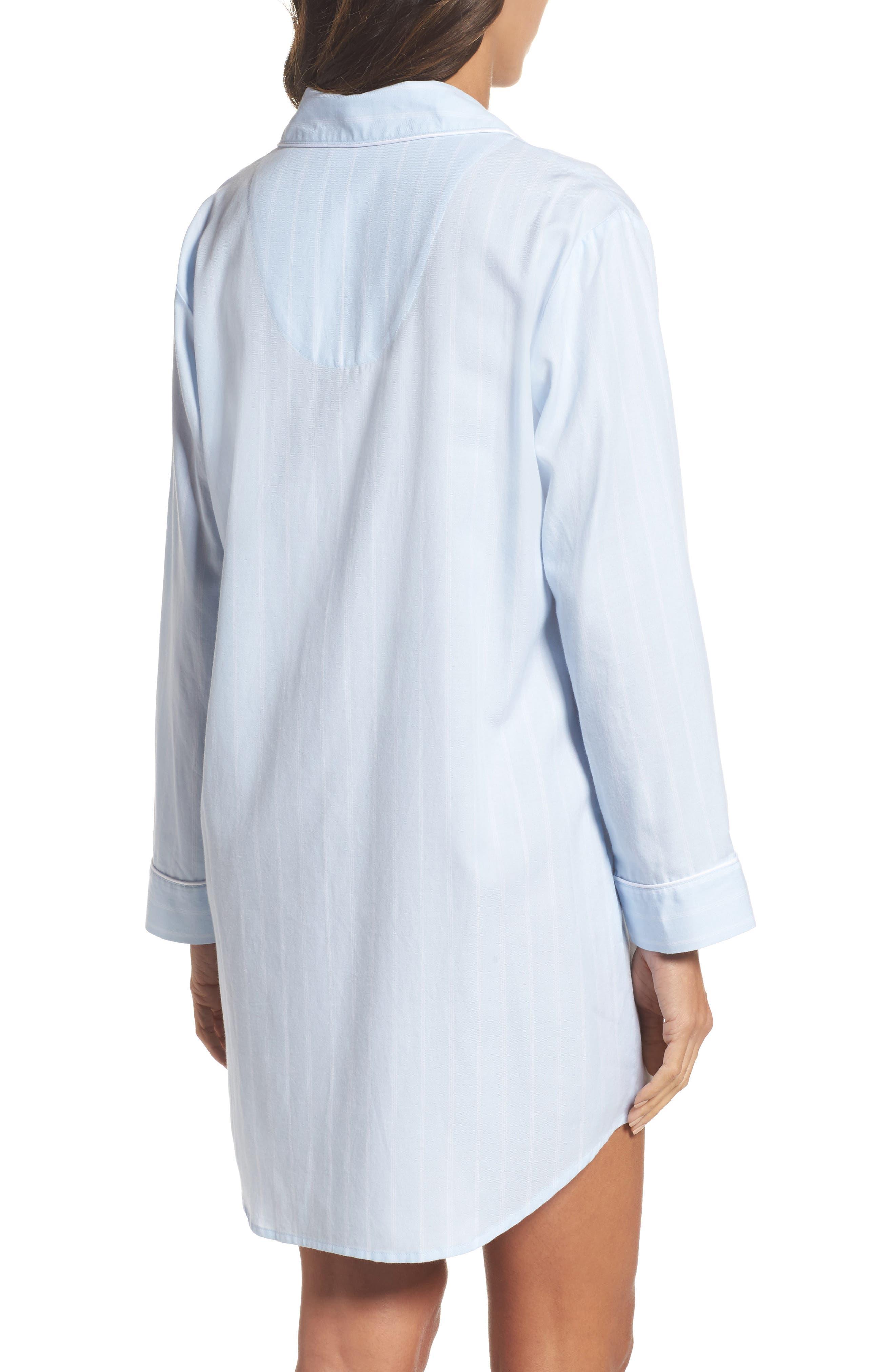Notch Collar Sleep Shirt,                             Alternate thumbnail 4, color,