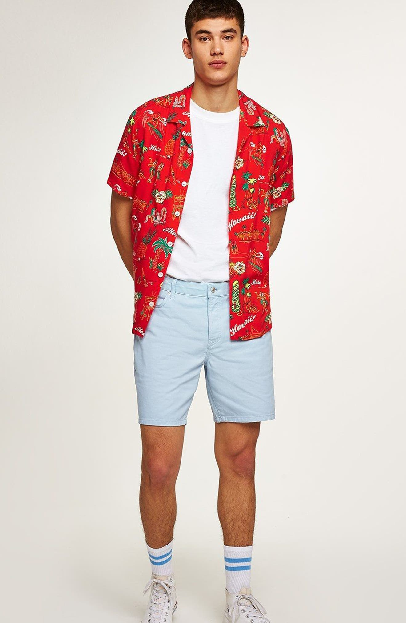 Classic Fit Hawaiian Shirt,                             Alternate thumbnail 4, color,                             600